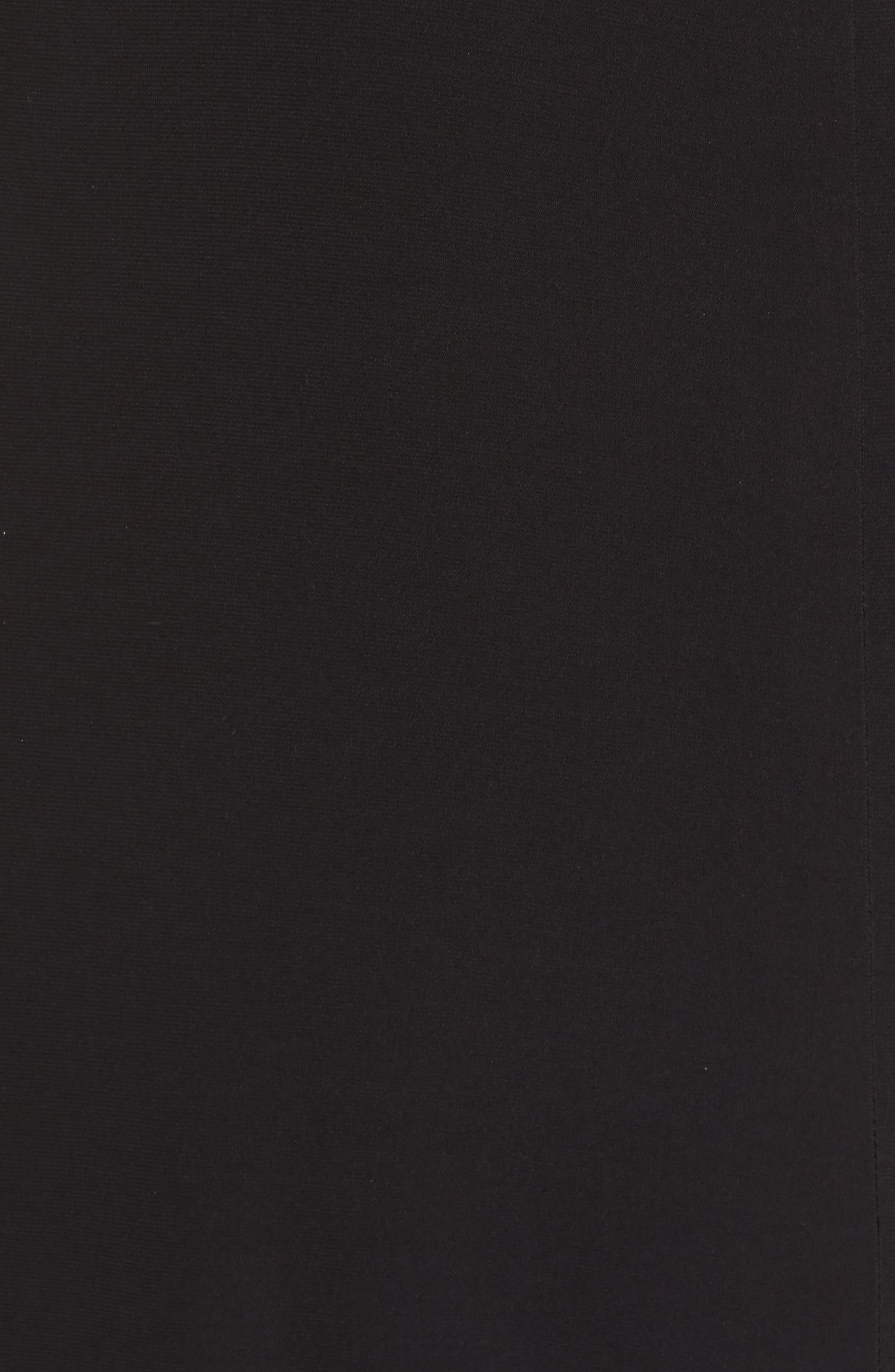 Sequin Mesh Panel Gown,                             Alternate thumbnail 5, color,                             Black / Rose Gold
