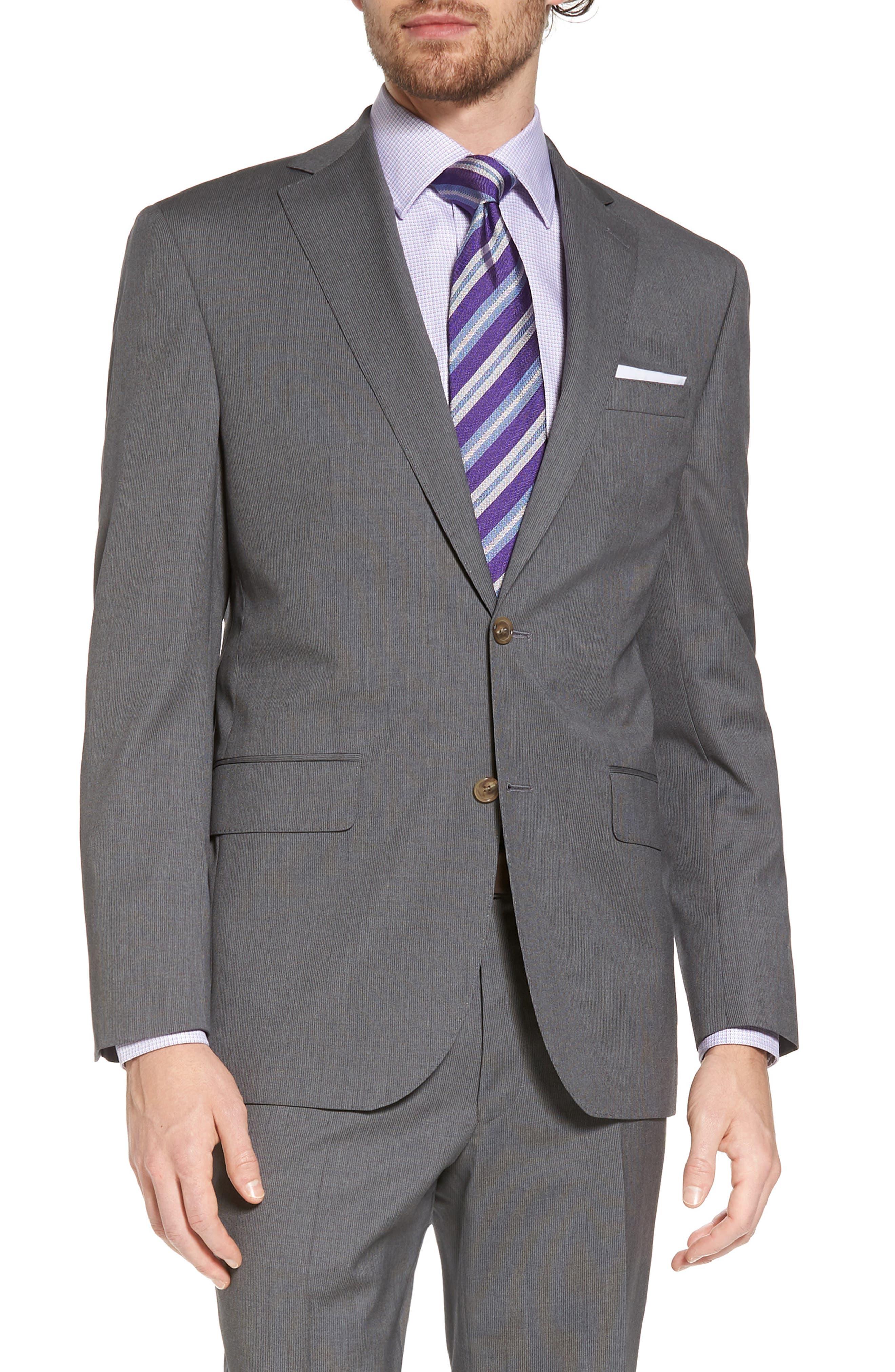 Alternate Image 5  - David Donahue Ryan Classic Fit Stripe Wool Suit
