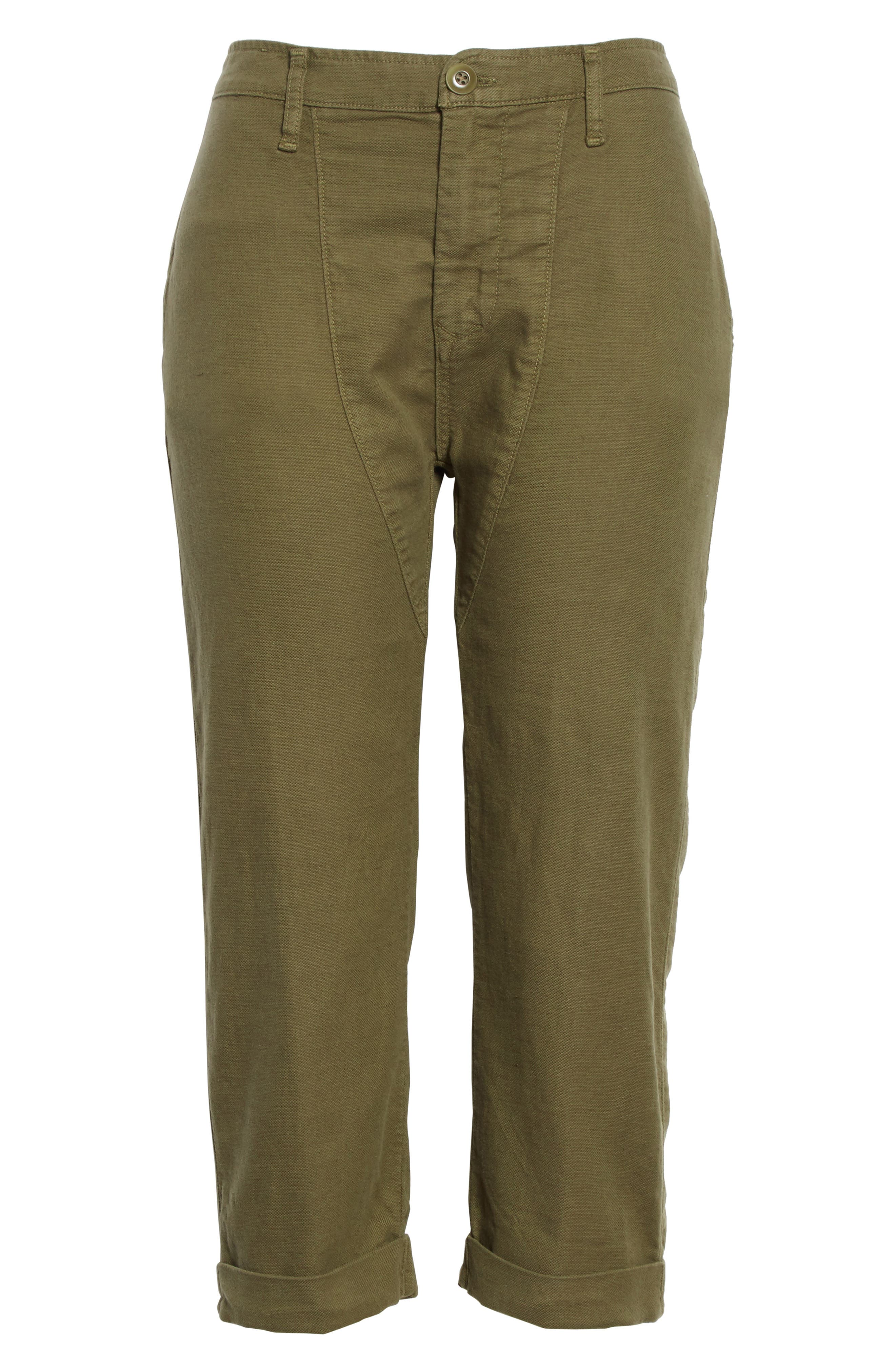 The Saddle Trouser,                             Alternate thumbnail 6, color,                             Army