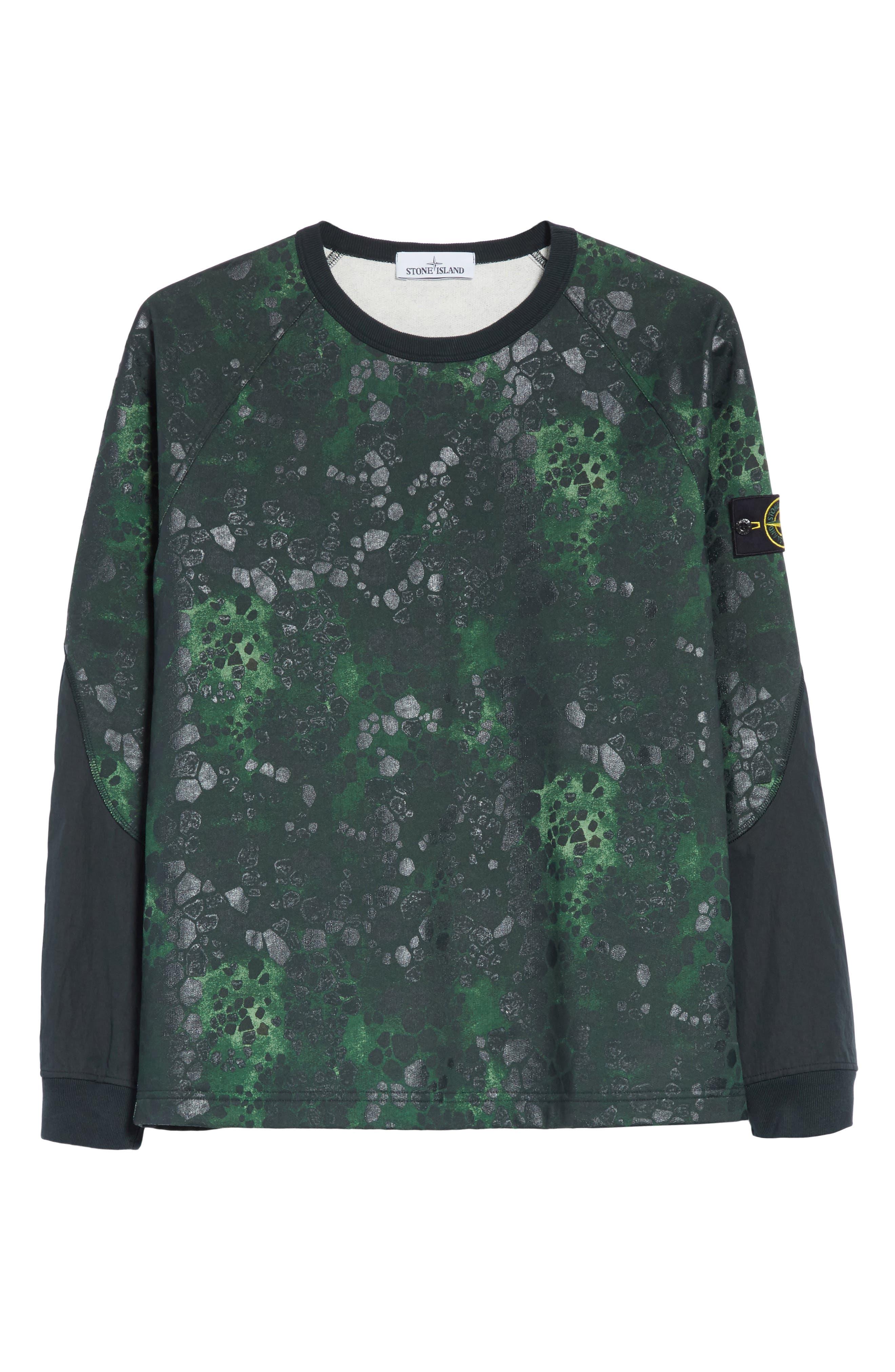 Military Crewneck Sweatshirt,                             Alternate thumbnail 6, color,                             Green