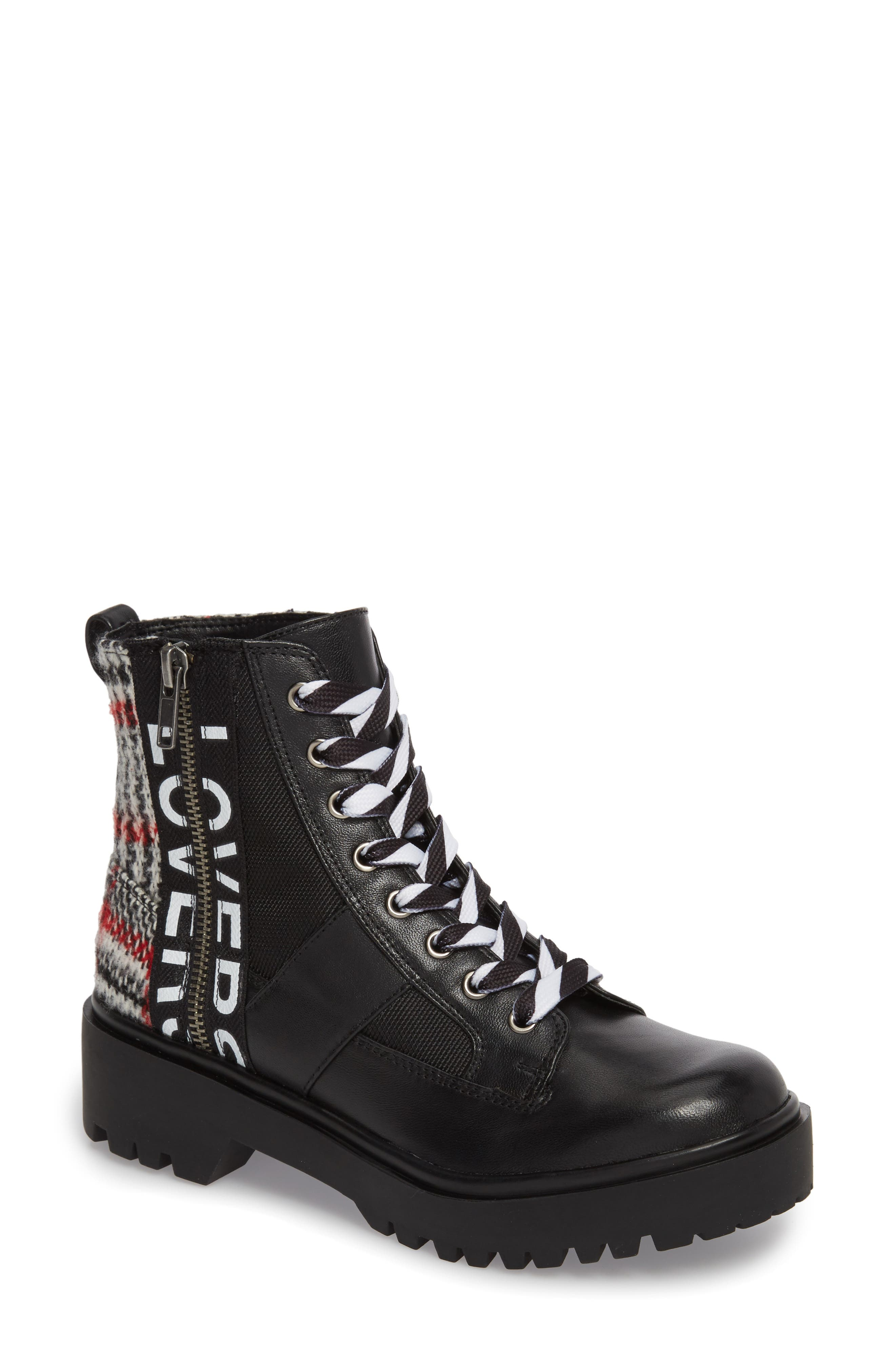 Lennox Combat Boot,                             Main thumbnail 1, color,                             Black Multi
