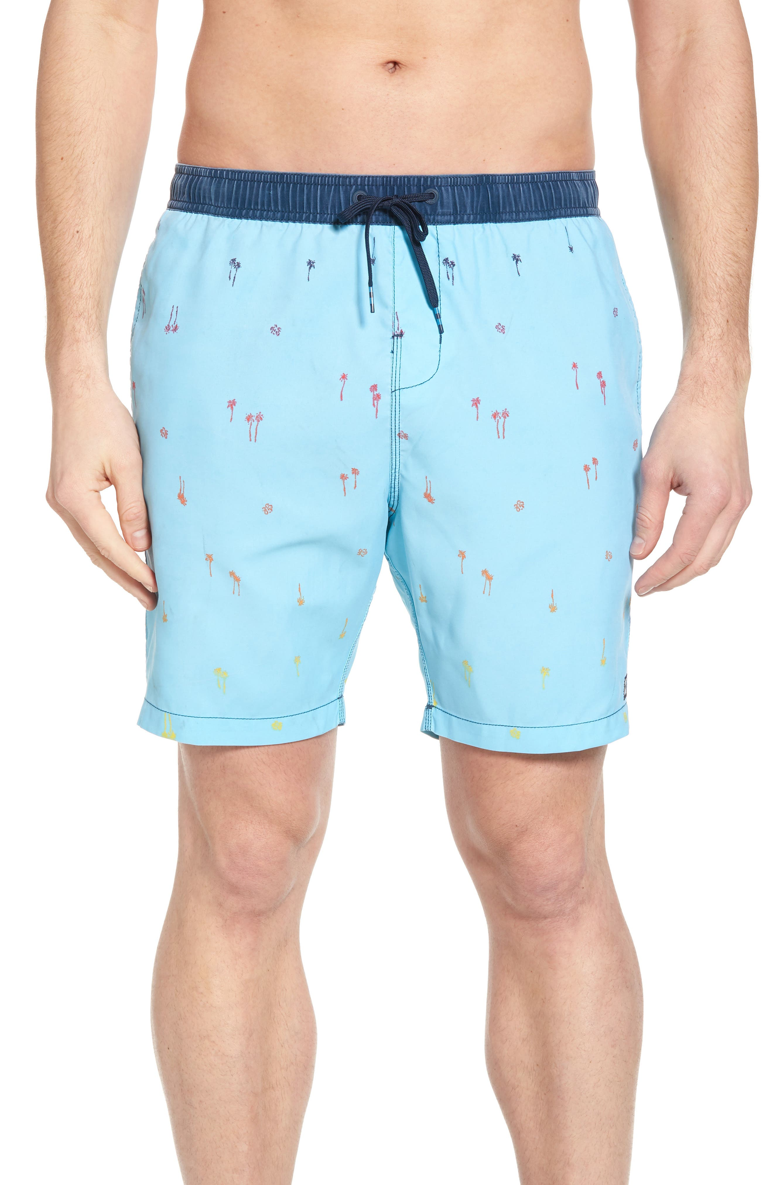 Sundays Layback Board Shorts,                             Main thumbnail 1, color,                             Light Blue