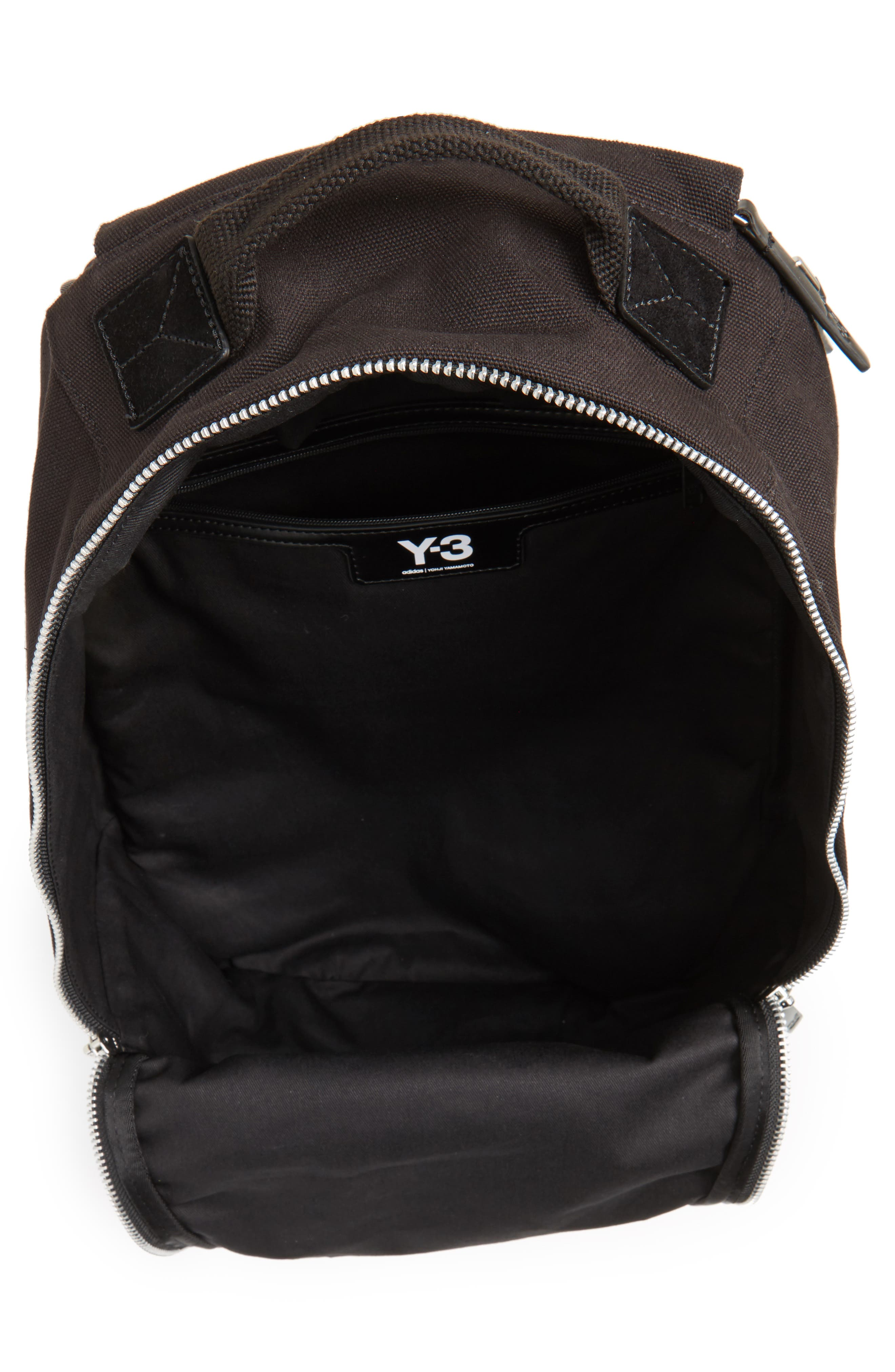 Logo Print Backpack,                             Alternate thumbnail 4, color,                             Black