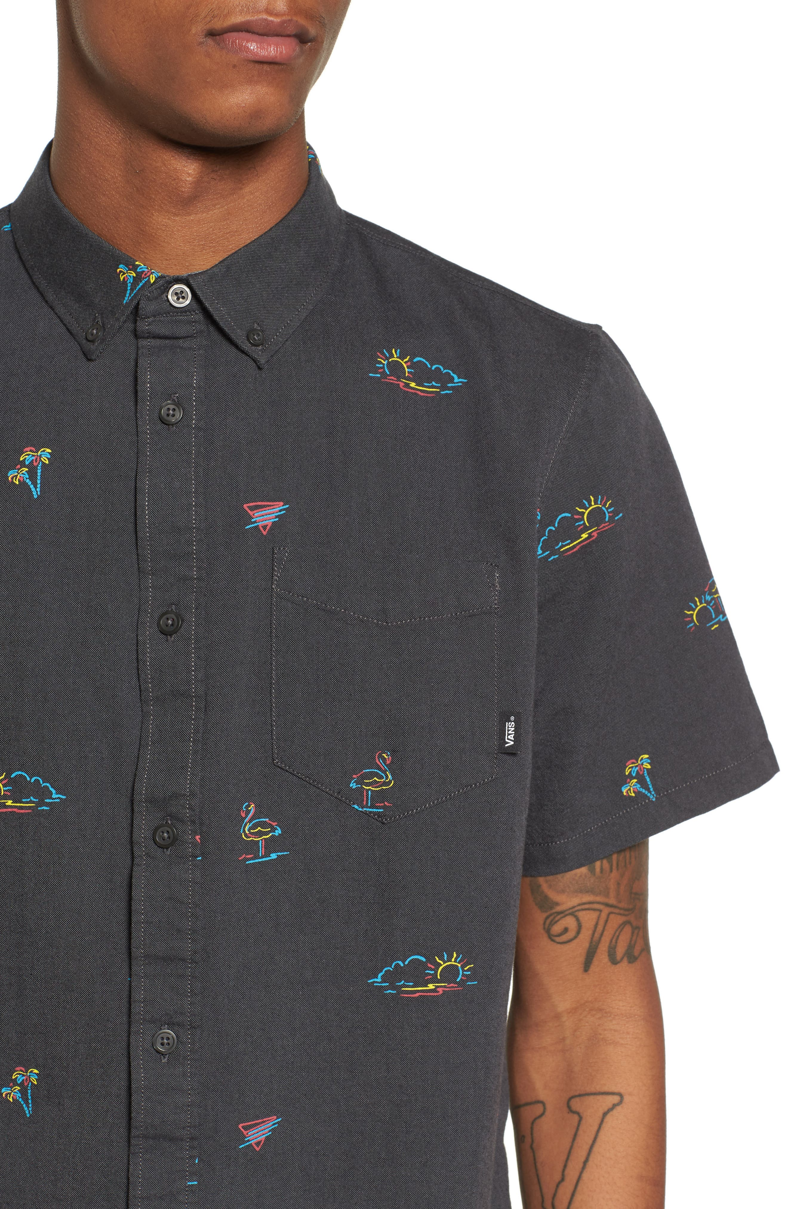 Houser Woven Shirt,                             Alternate thumbnail 2, color,                             Black Road Trippin