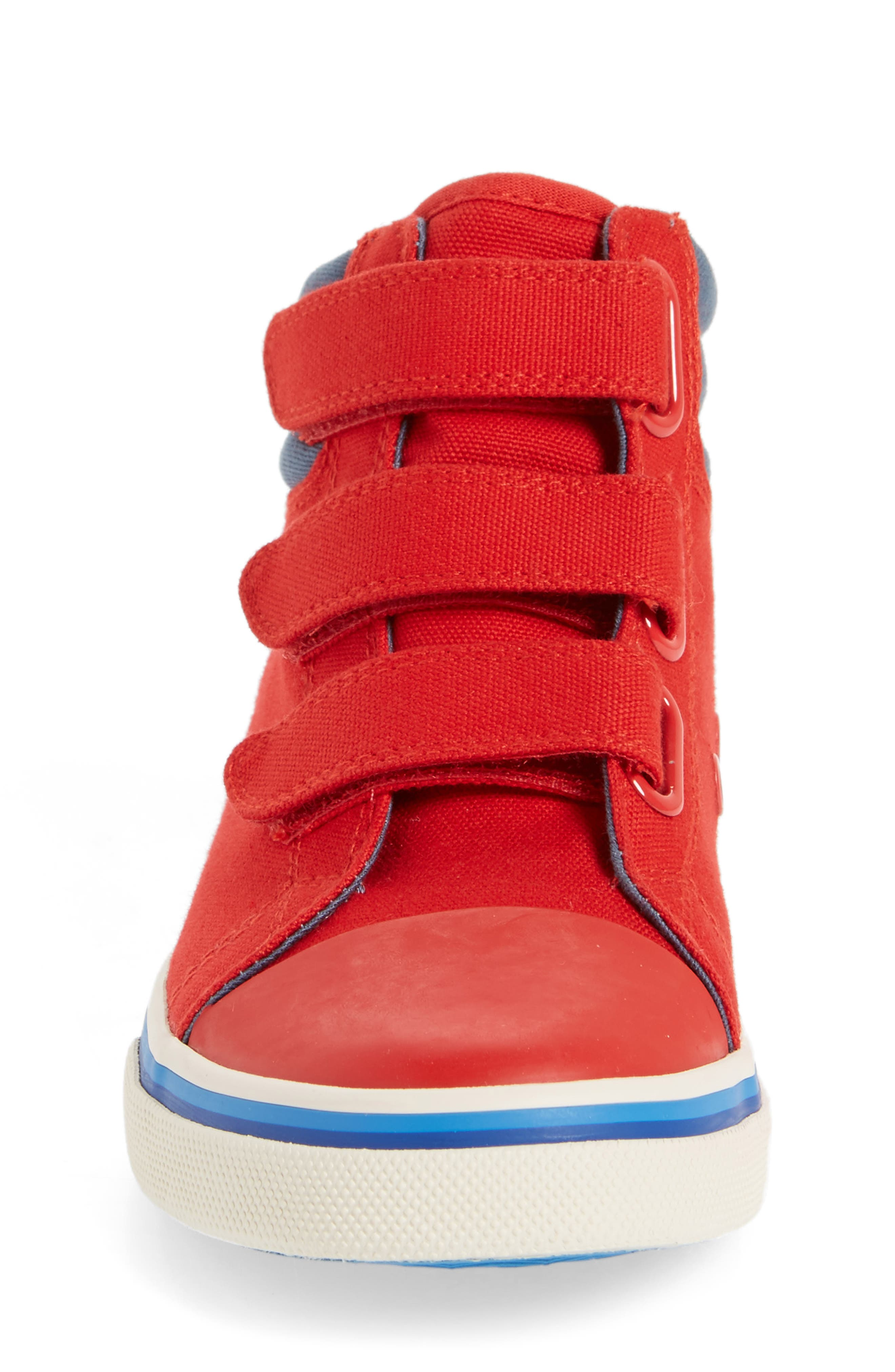 High Top Sneaker,                             Alternate thumbnail 4, color,                             Salsa Red