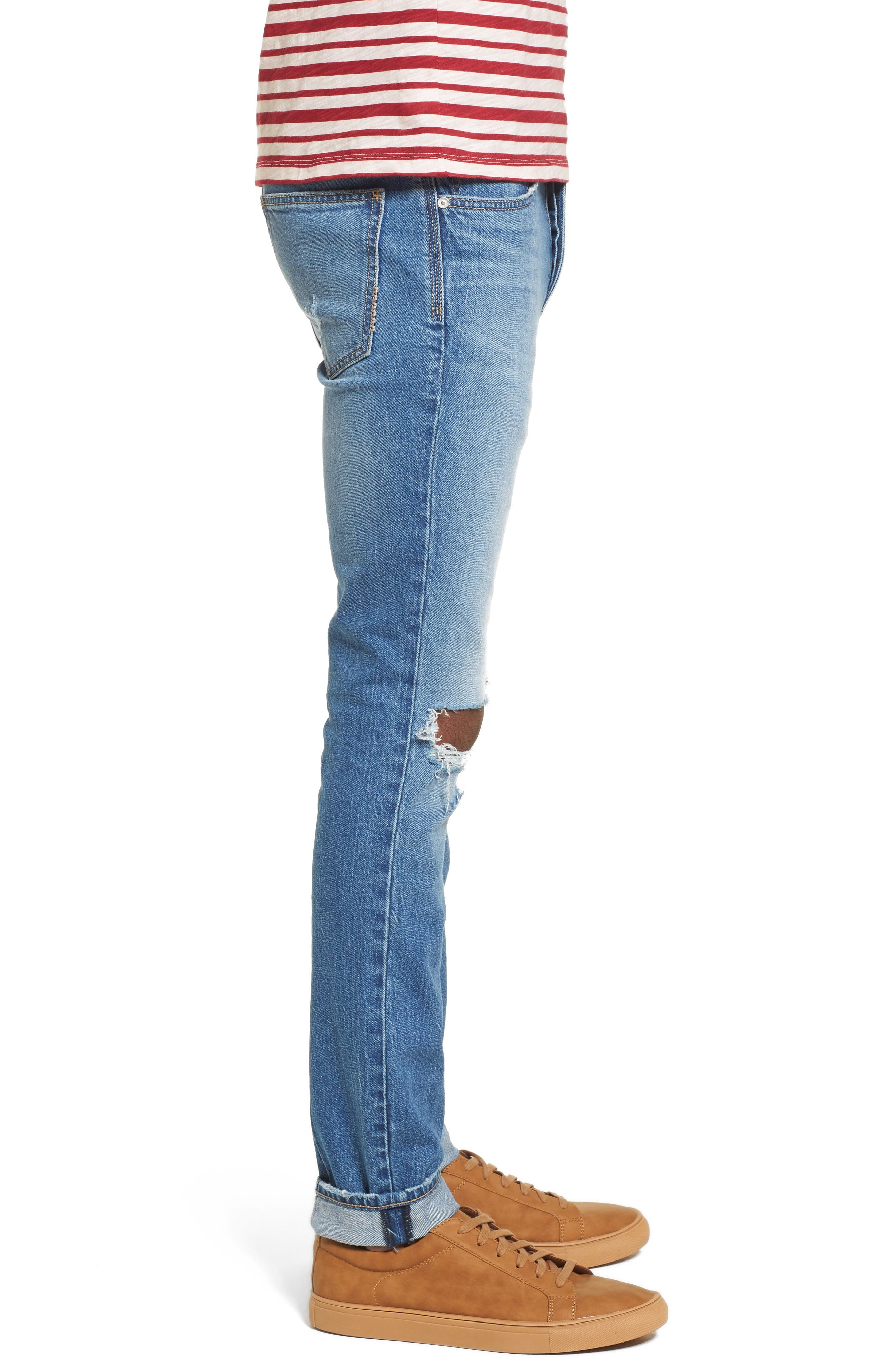 Iggy Skinny Fit Jeans,                             Alternate thumbnail 3, color,                             Broken Collector