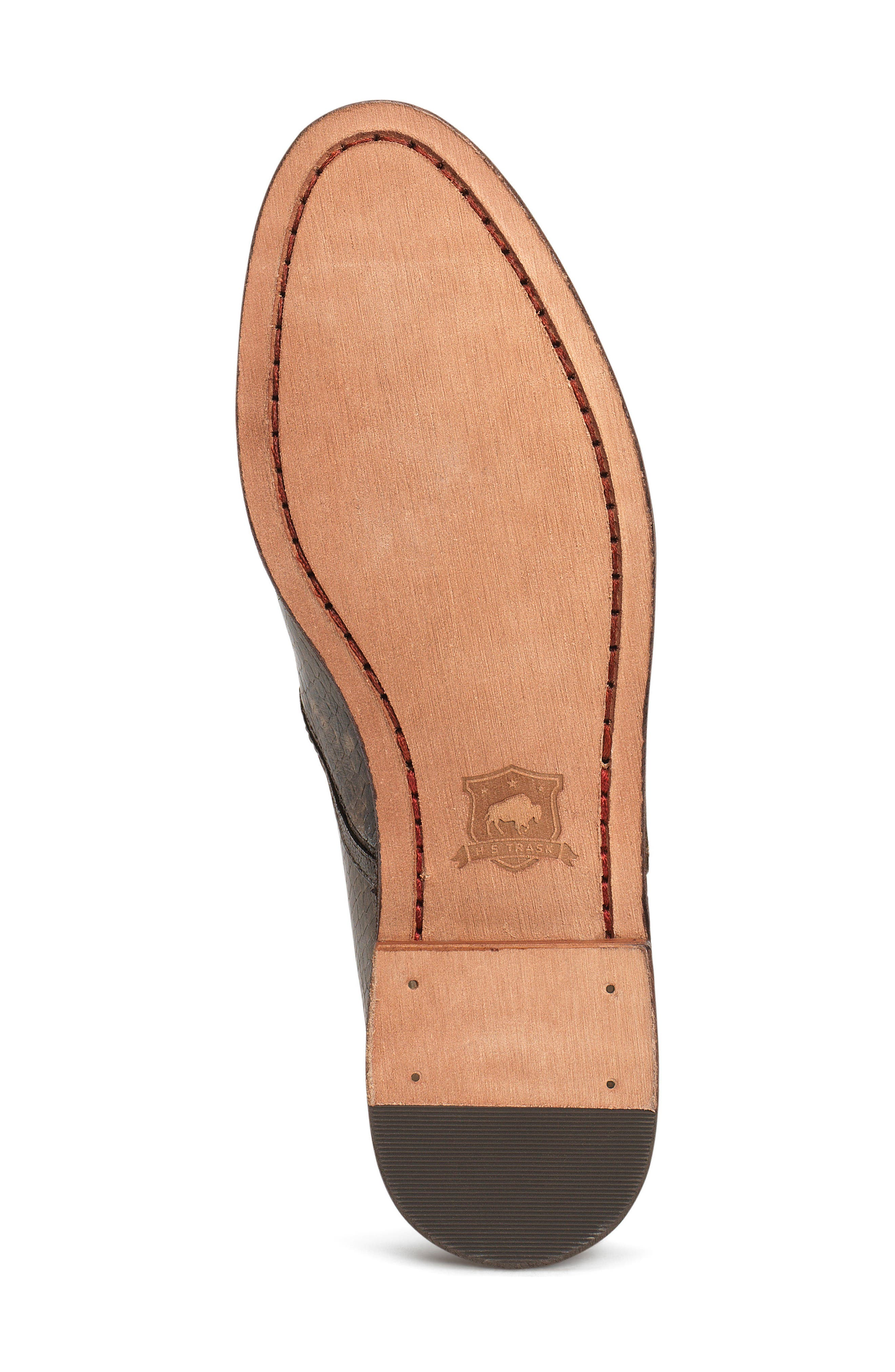 'Ali' Flat,                             Alternate thumbnail 6, color,                             Brown Print Leather