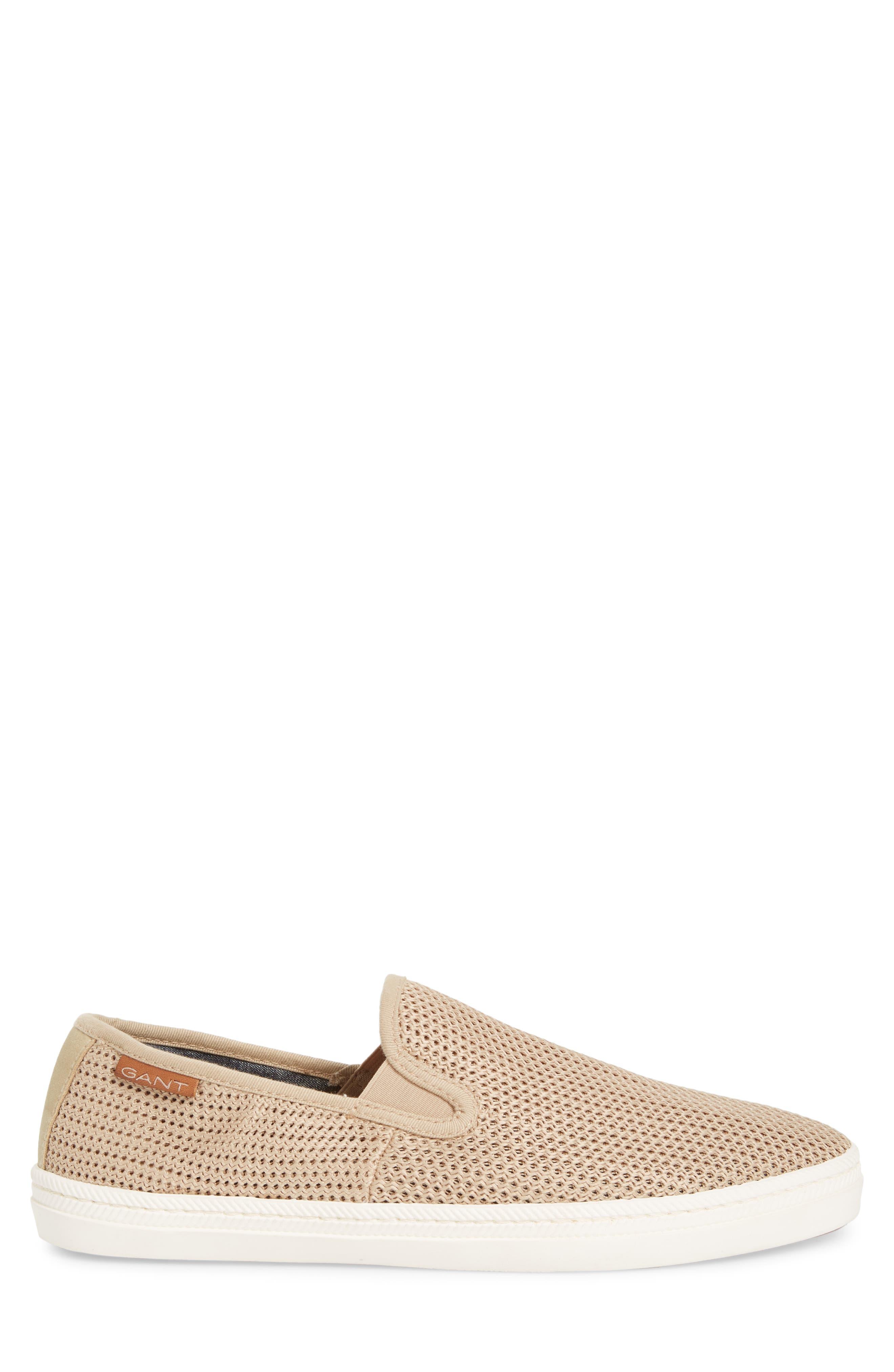 Viktor Woven Slip-On Sneaker,                             Alternate thumbnail 3, color,                             Dry Sand