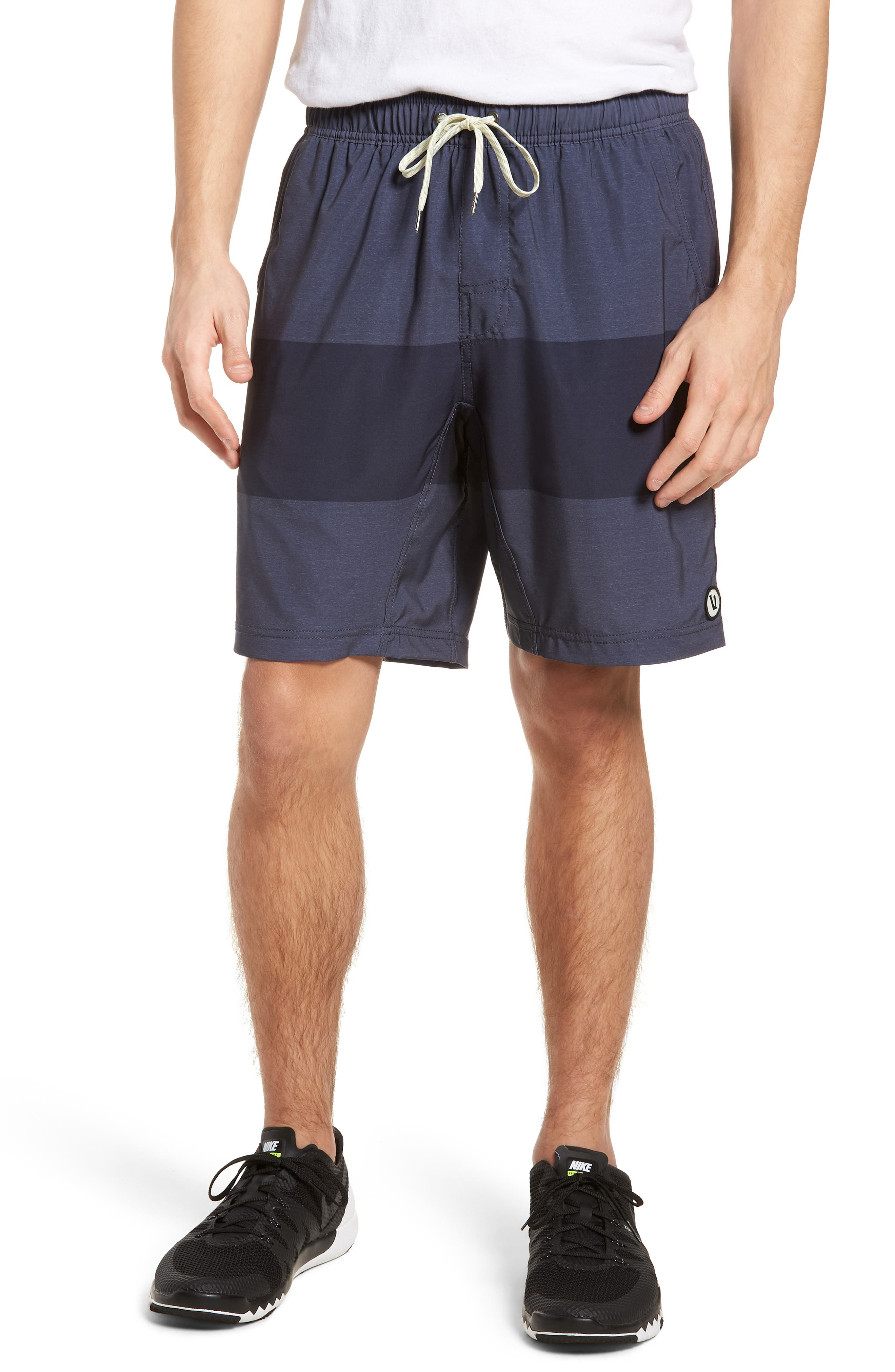 Kore Shorts,                         Main,                         color, Navy Texture Block