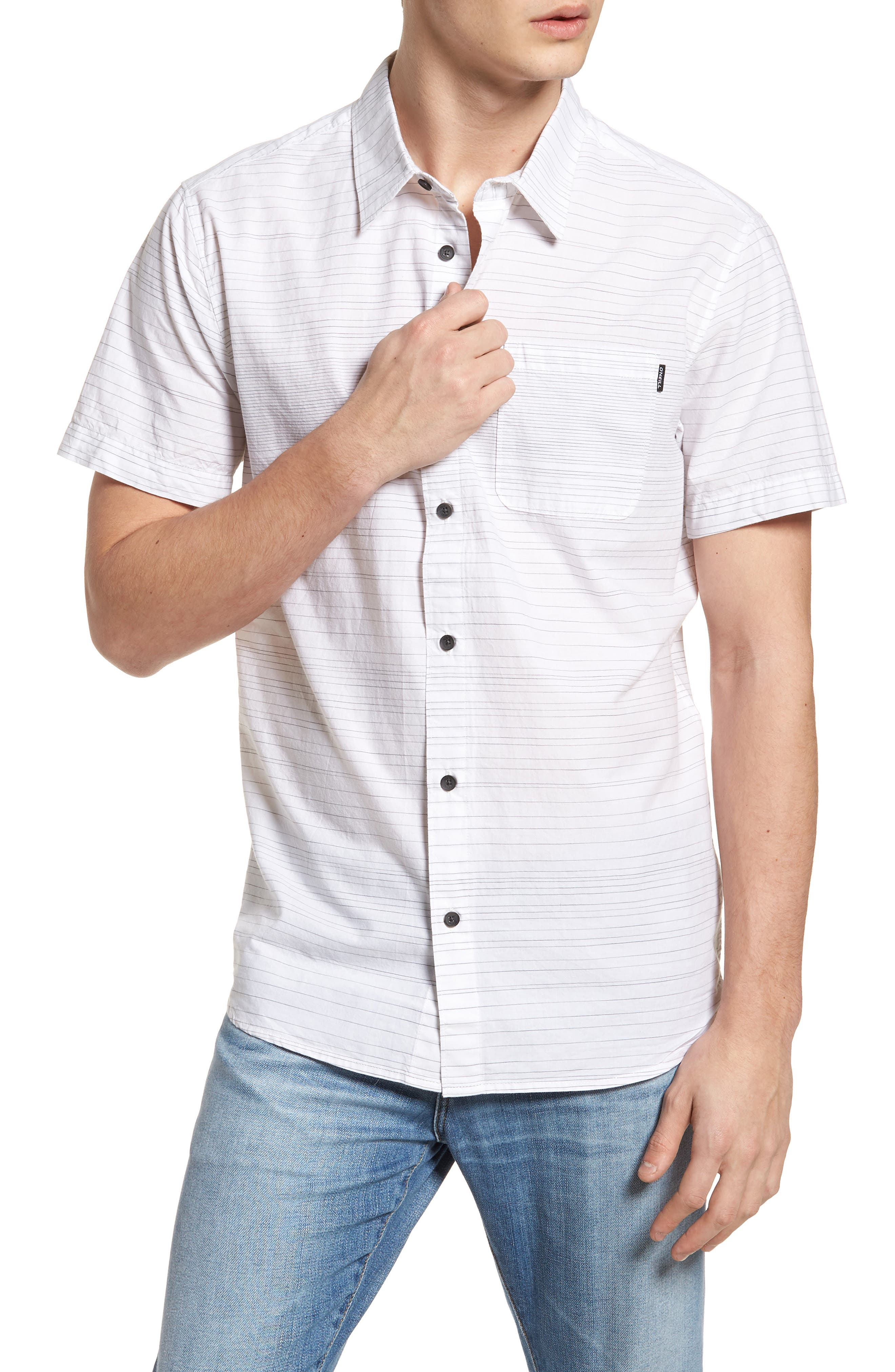Hound Woven Shirt,                         Main,                         color, White