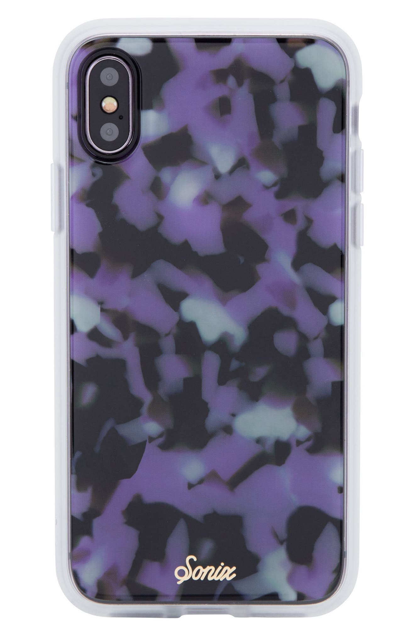 Terrazzo Lilac iPhone X Case,                             Main thumbnail 1, color,                             Lilac