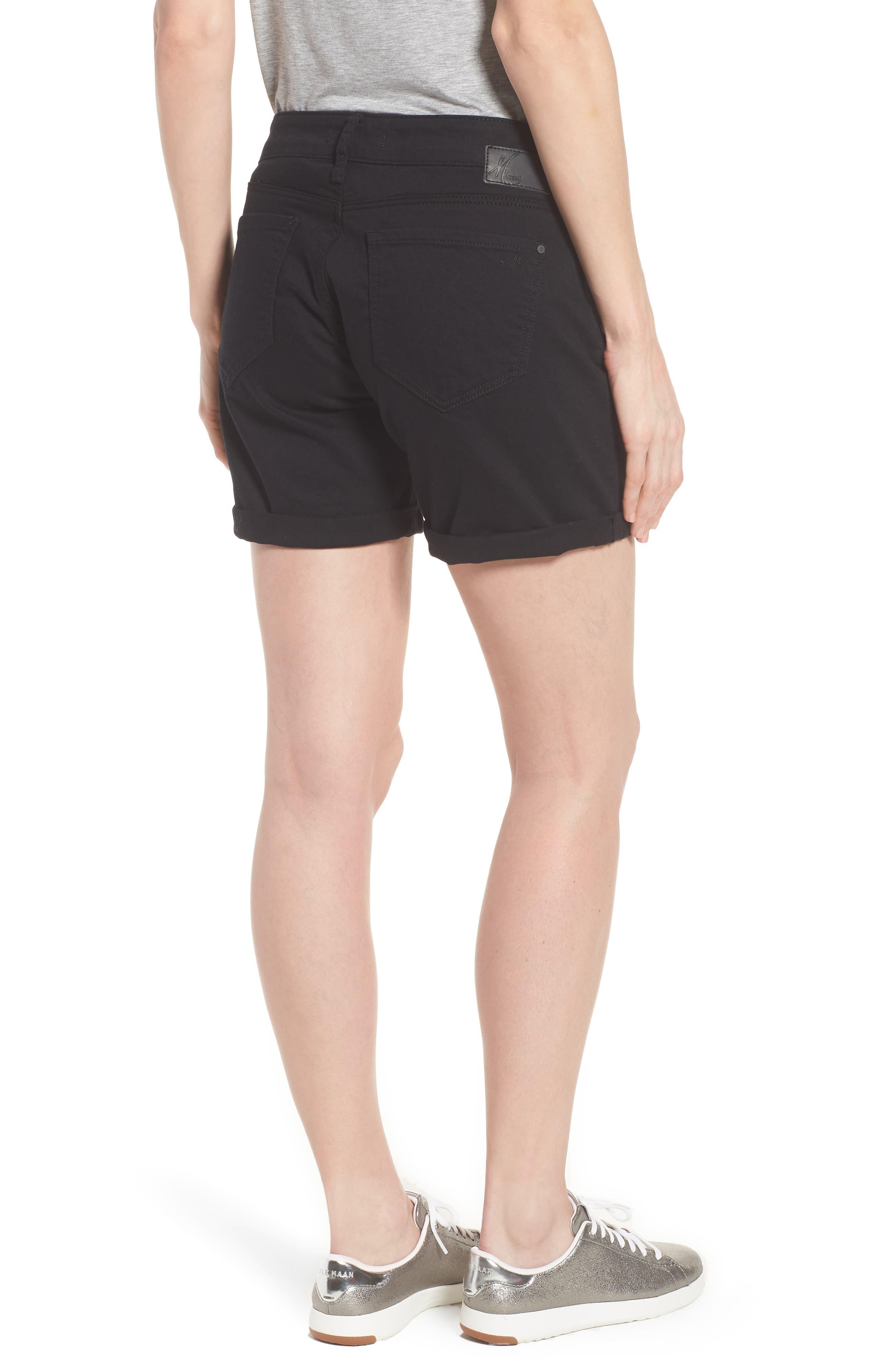 Alternate Image 2  - Mavi Pixie Roll Cuff Denim Shorts (Black Nolita)