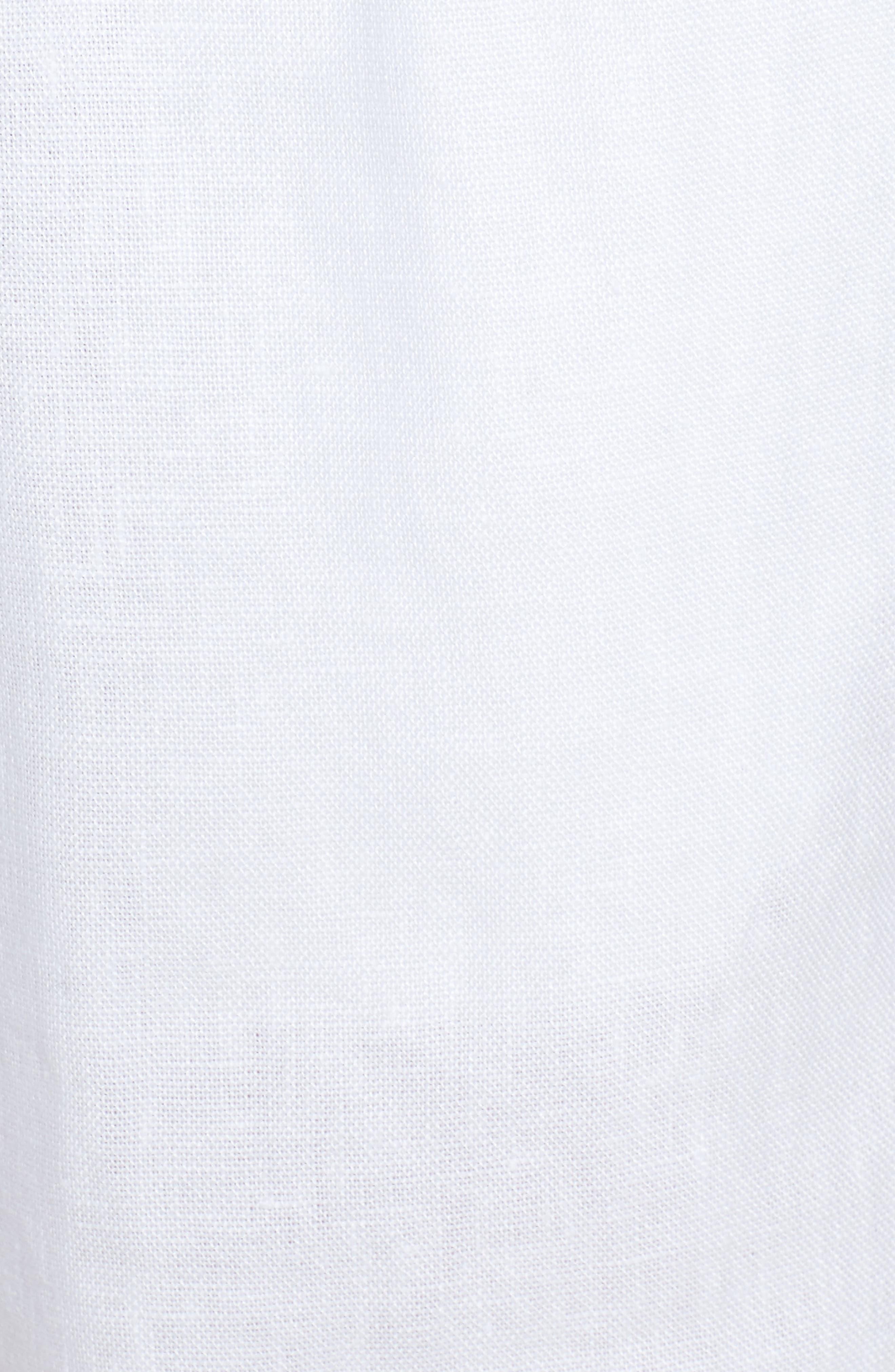 Rolled Organic Linen Shorts,                             Alternate thumbnail 5, color,                             White