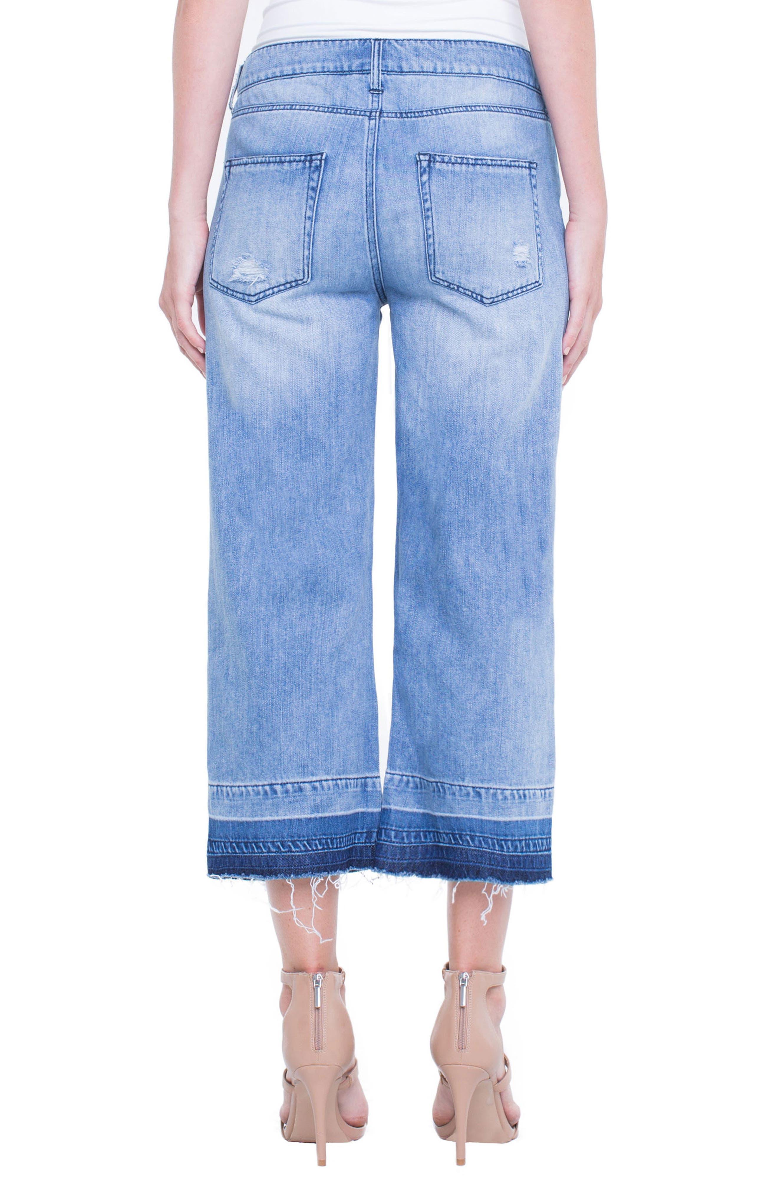 Release Hem Wide Crop Jeans,                             Alternate thumbnail 4, color,                             Denmark Grind