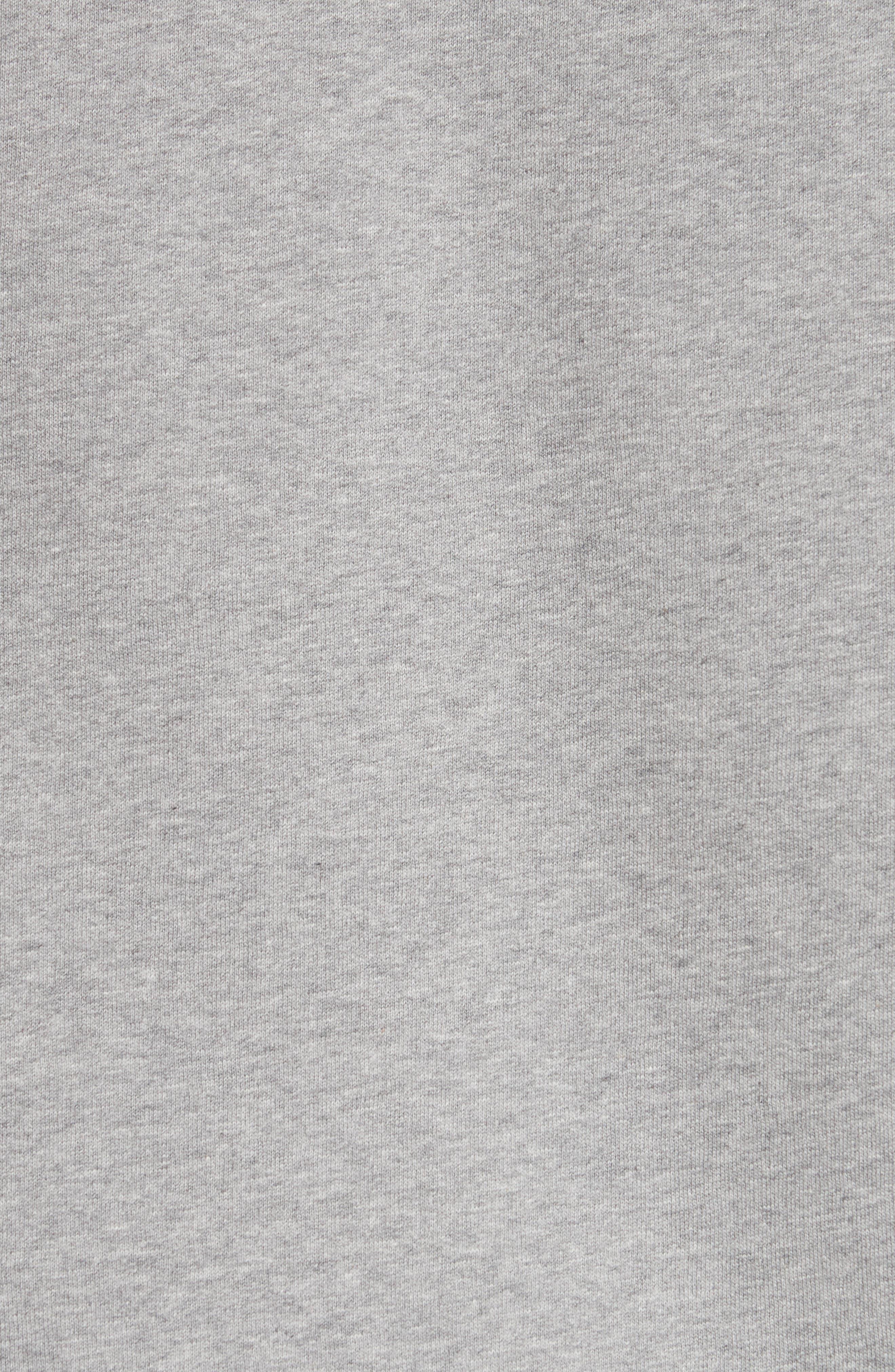 Kaneford Standard Fit Sweatshirt,                             Alternate thumbnail 5, color,                             Pale Grey Melange