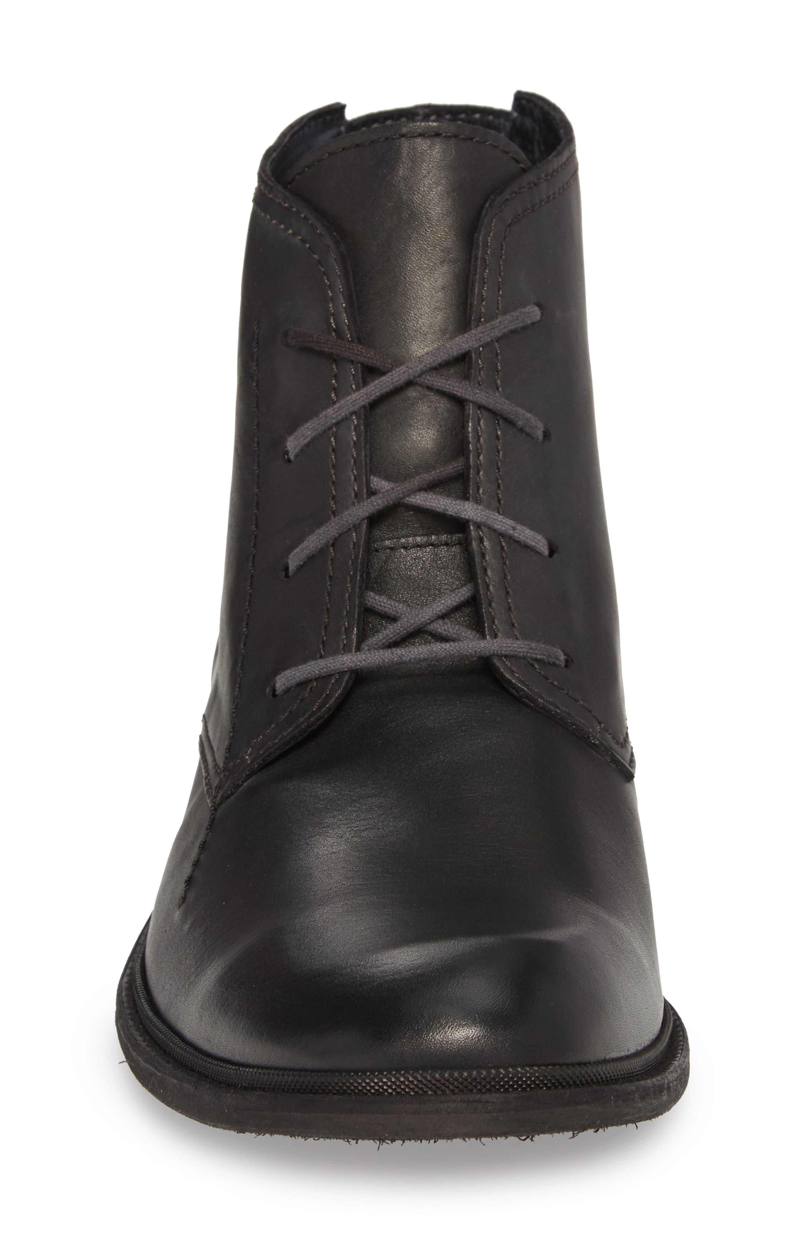 Hobi Plain Toe Chukka Boot,                             Alternate thumbnail 4, color,                             Black Leather