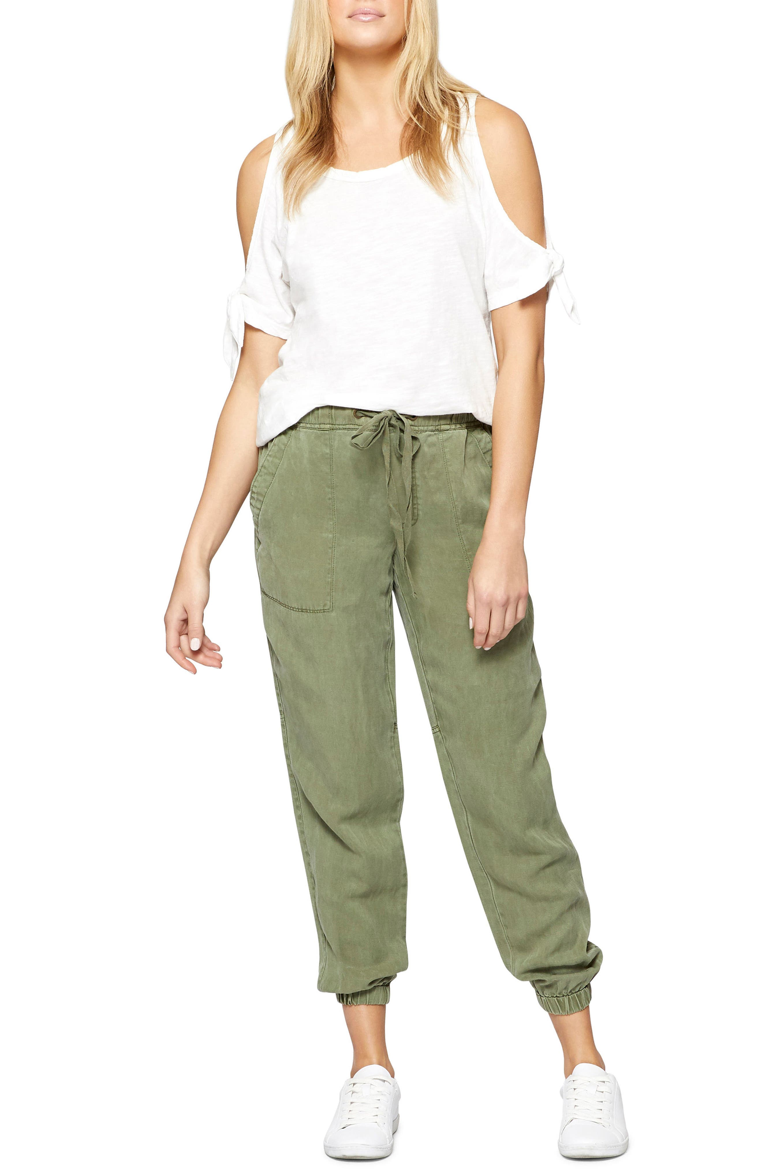 Victory Jogger Linen Blend Pants,                             Alternate thumbnail 3, color,                             Cadet