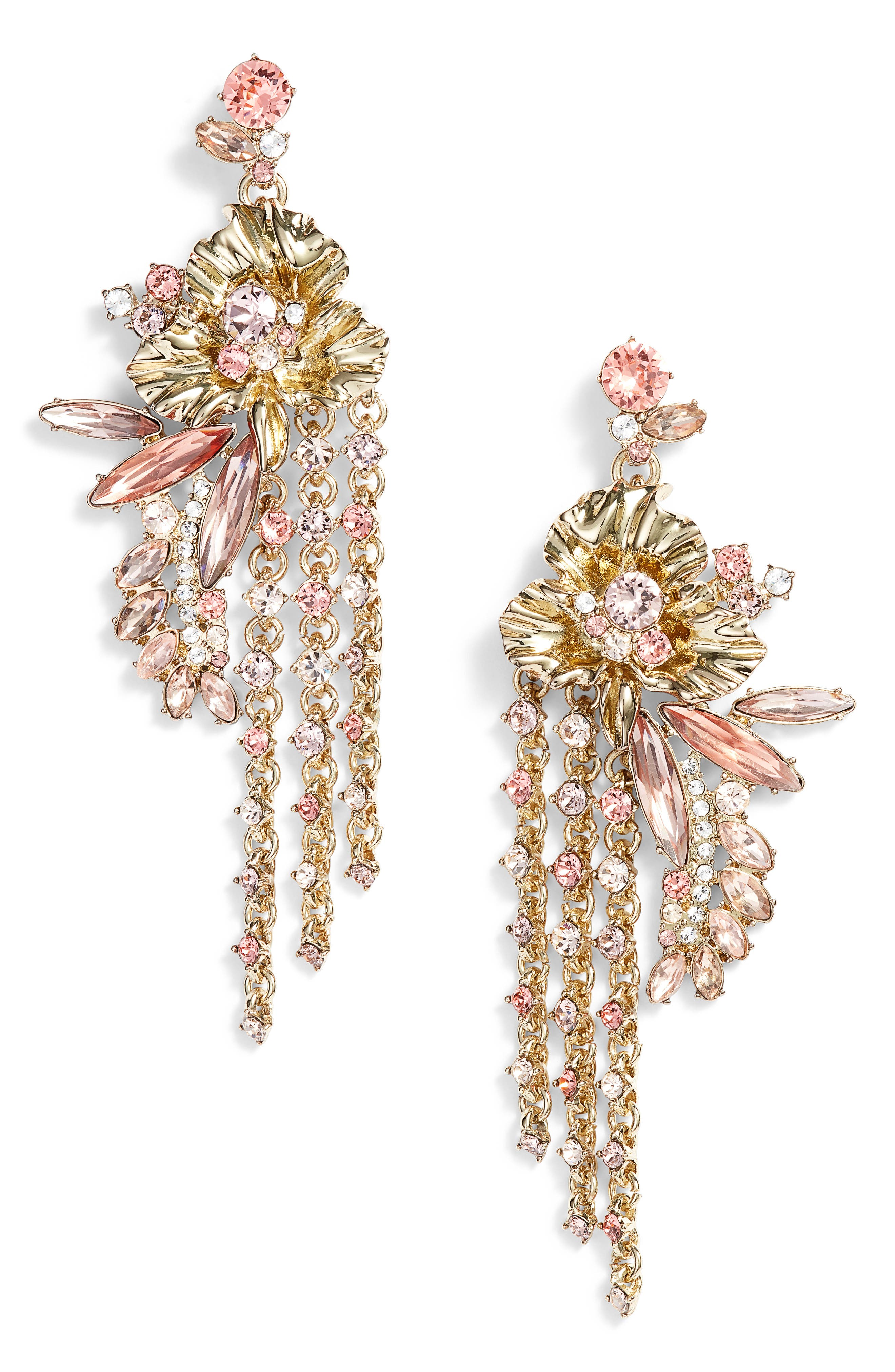 Givenchy Flower Fringe Earrings