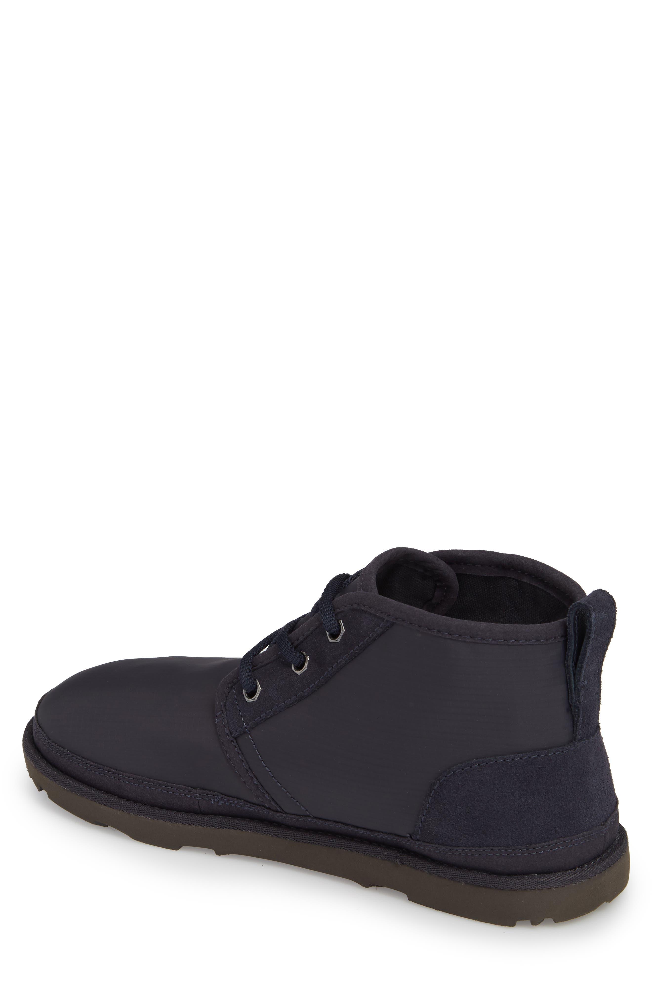 Neumel Ripstop Chukka Boot,                             Alternate thumbnail 2, color,                             True Navy Leather