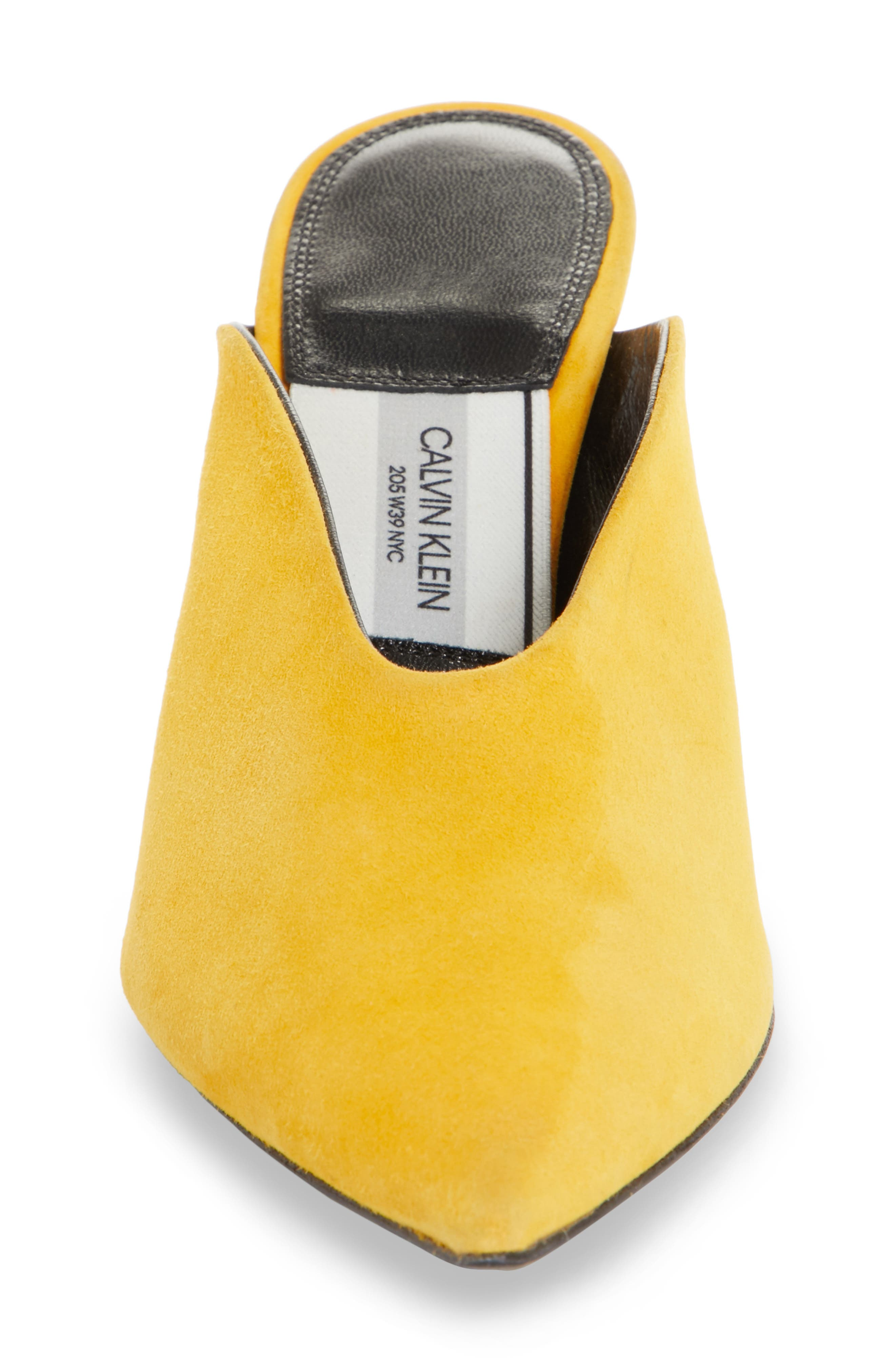 Roslynn Pointy Toe Mule,                             Alternate thumbnail 4, color,                             Sun Yellow