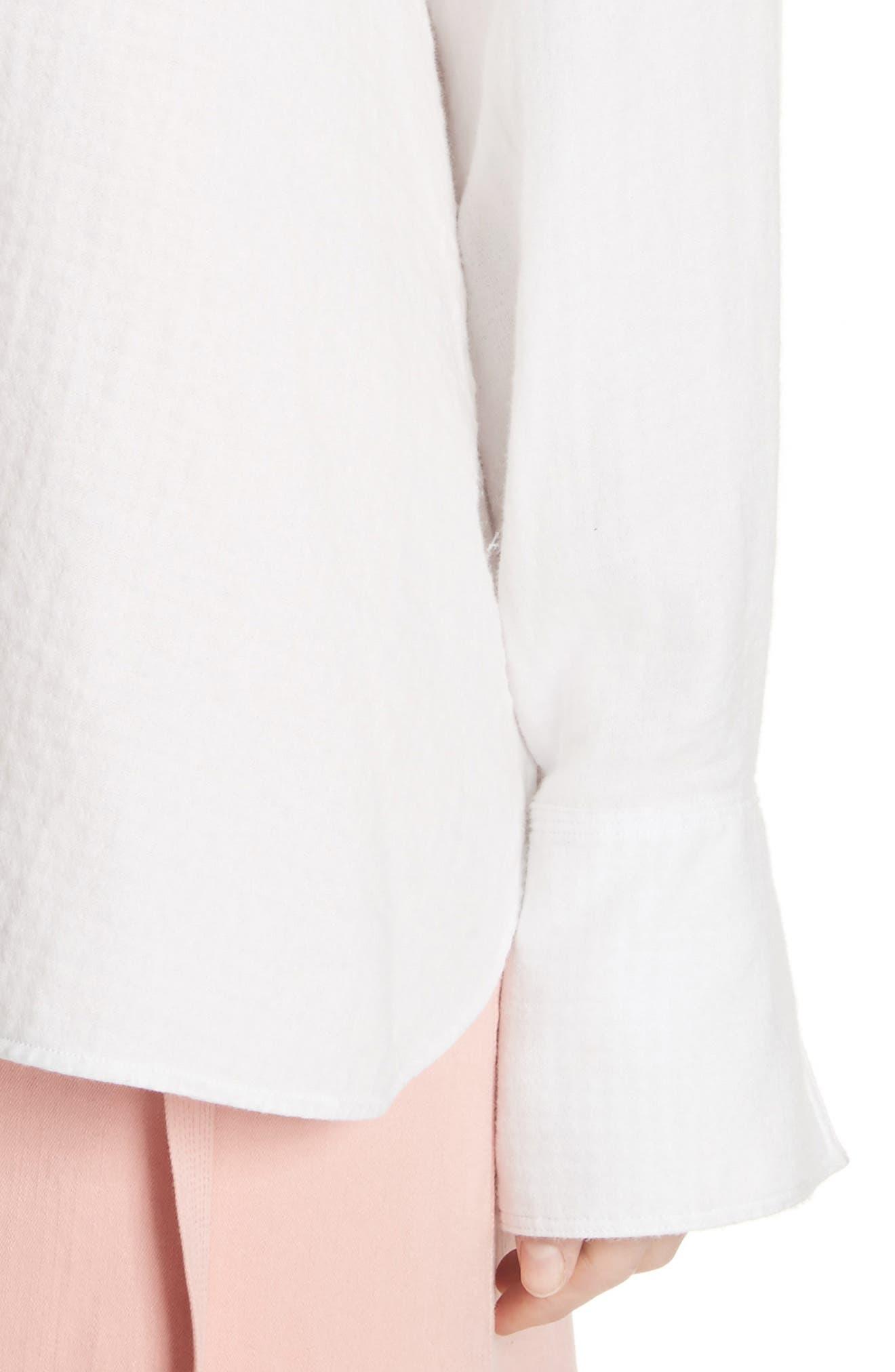 Carson Hooded Shirt,                             Alternate thumbnail 4, color,                             White