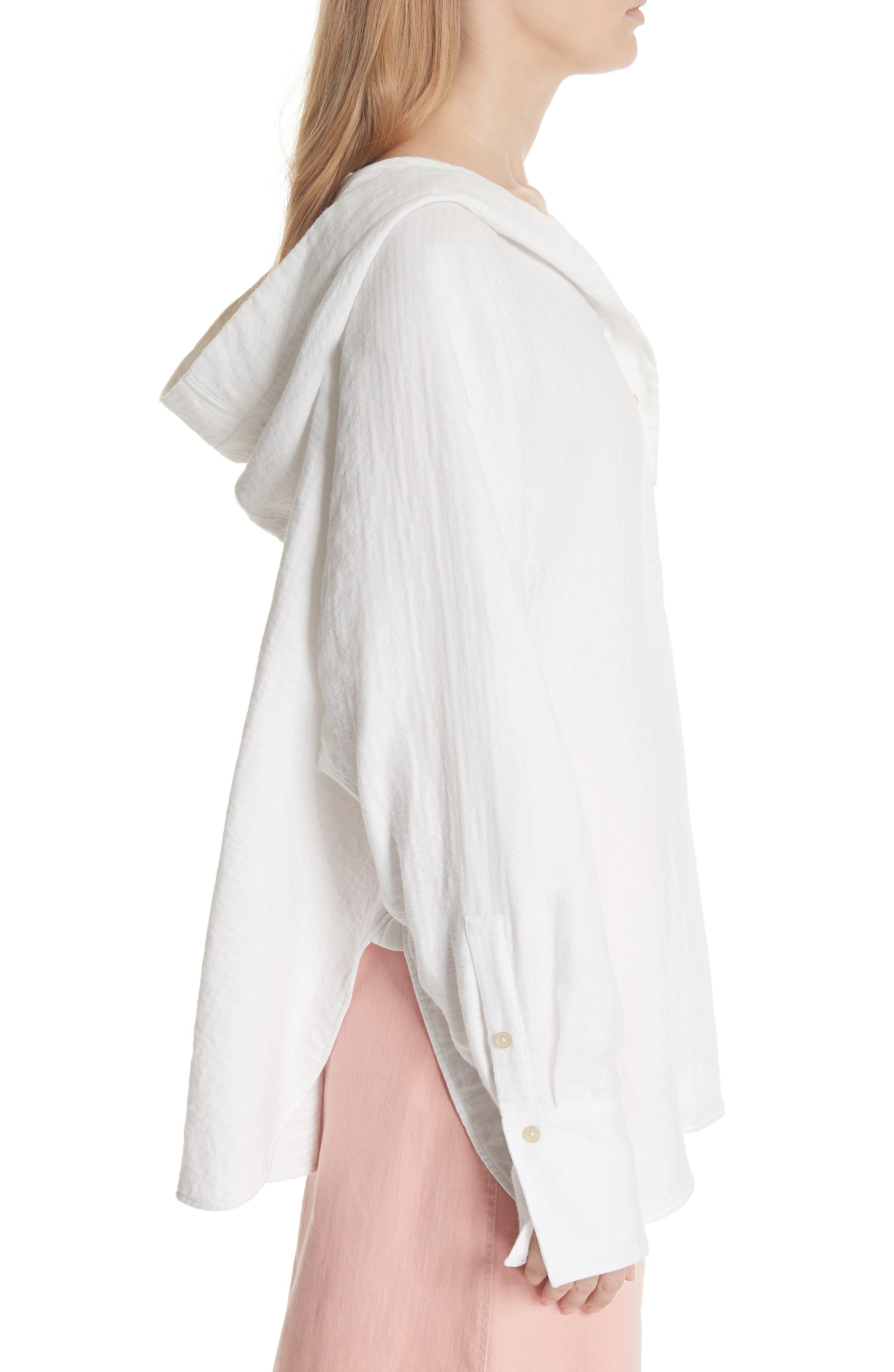 Carson Hooded Shirt,                             Alternate thumbnail 3, color,                             White