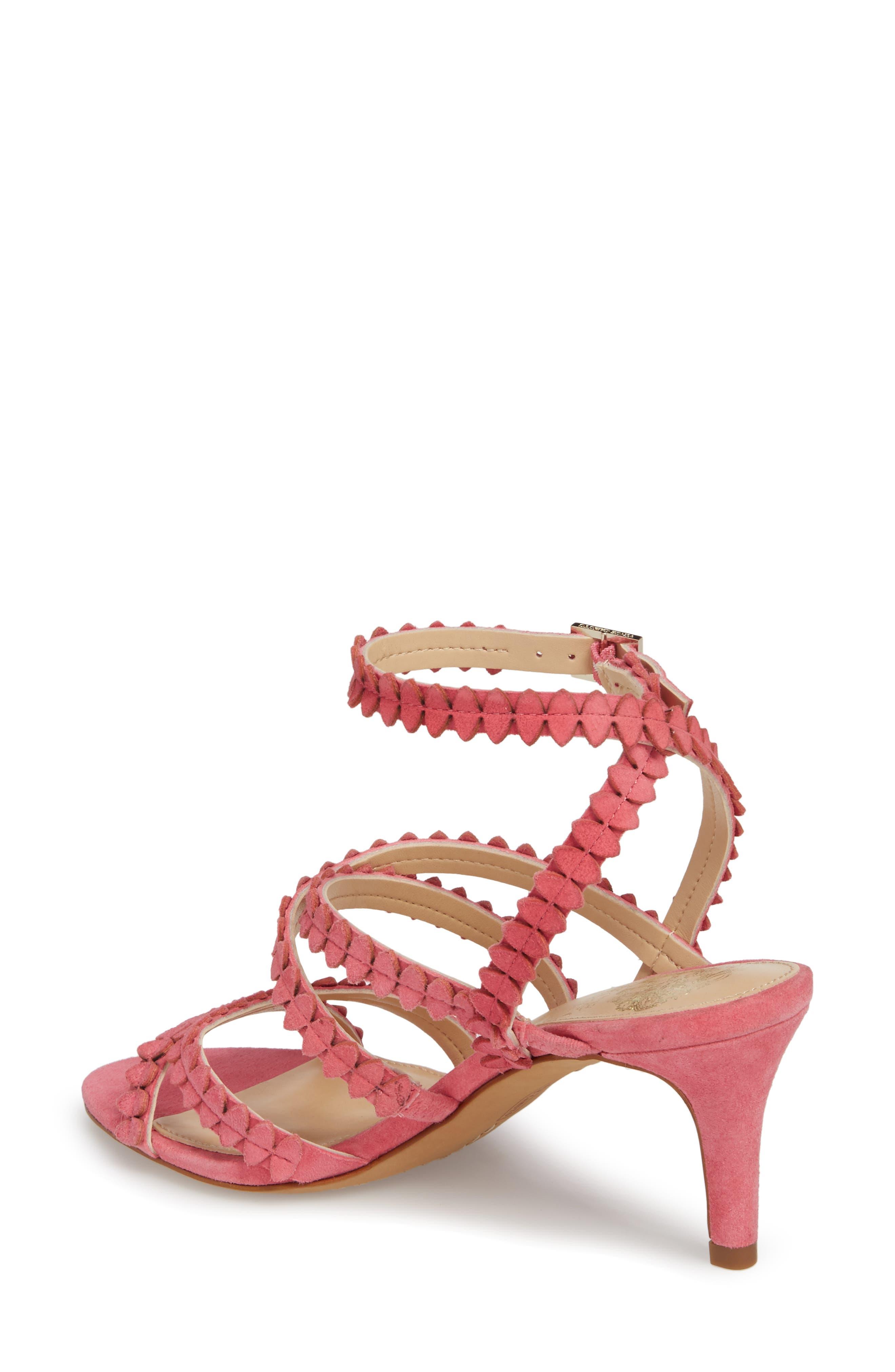 Yuria Sandal,                             Alternate thumbnail 2, color,                             Soft Pink Suede