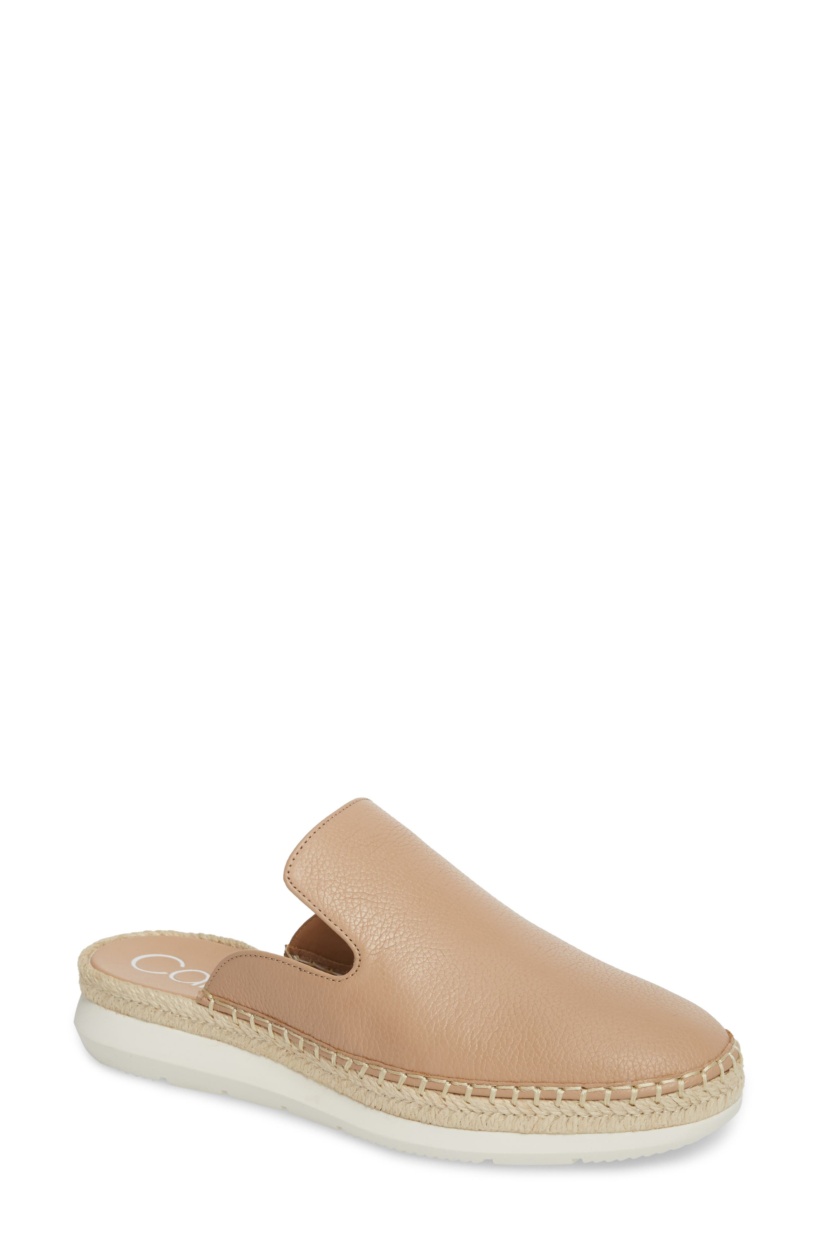 Verie Espadrille Loafer Mule,                             Main thumbnail 1, color,                             Desert Sand Pebble Leather