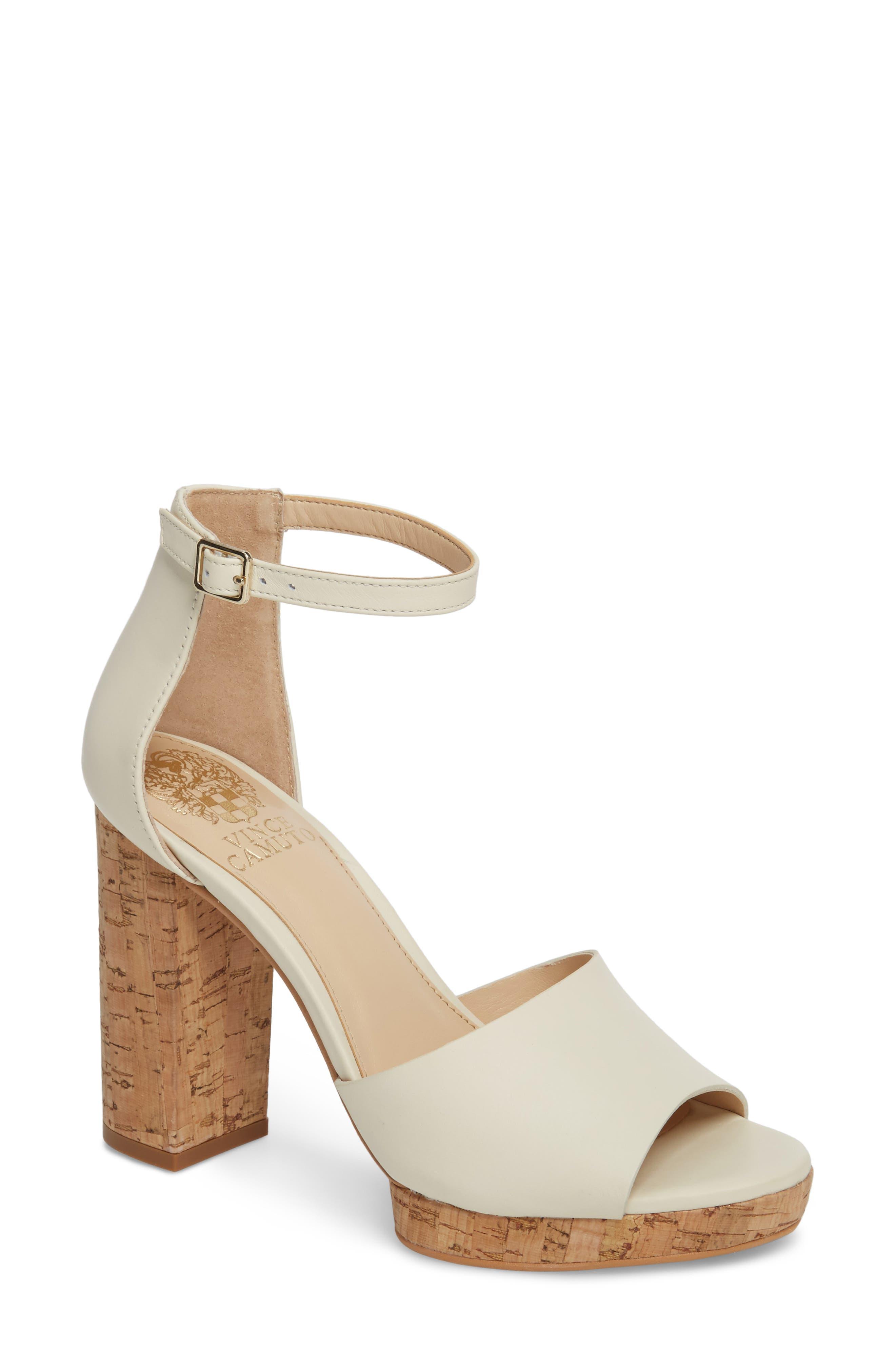 Ciestie Platform Sandal,                         Main,                         color, Vanilla Leather