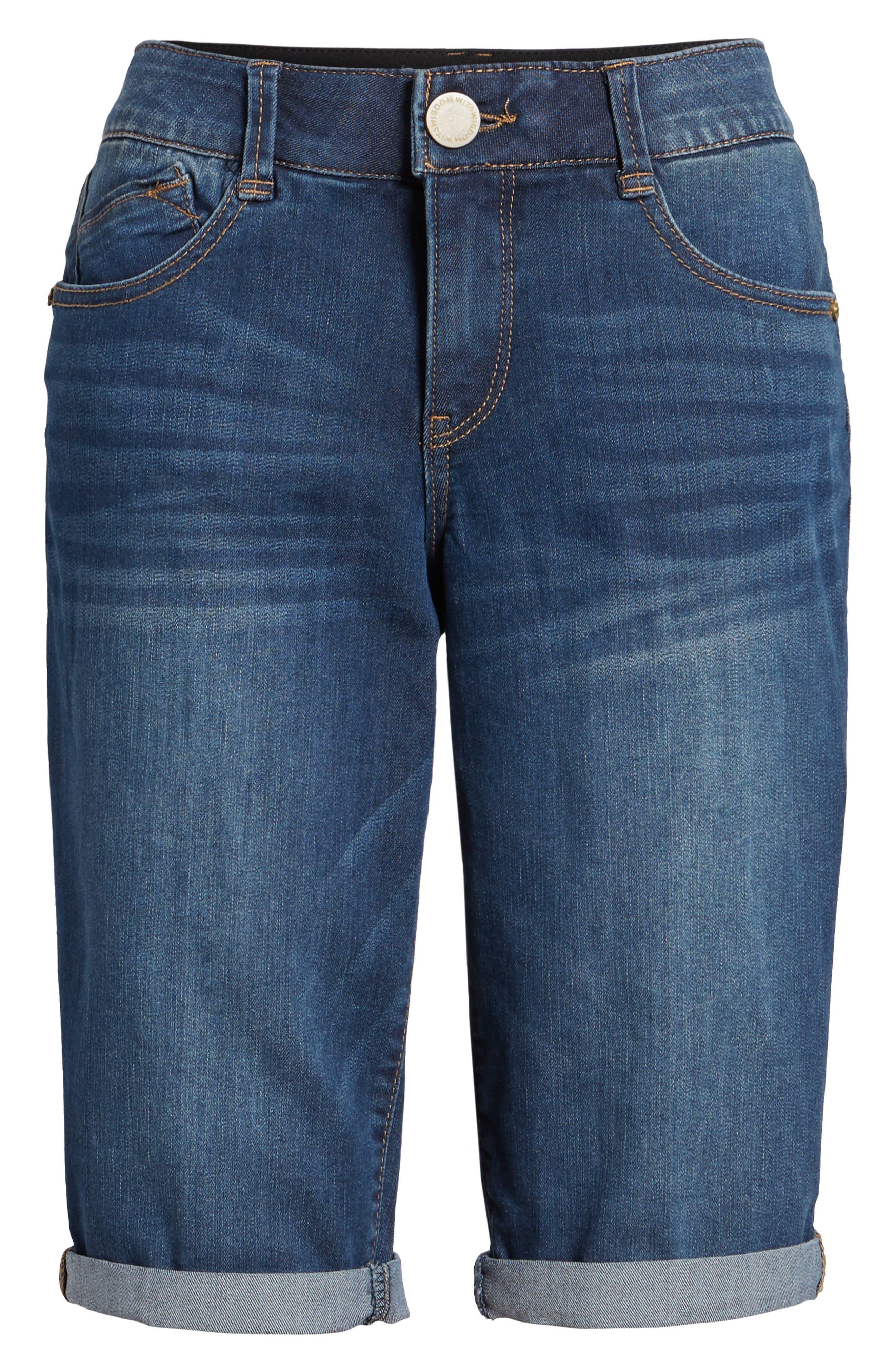 Alternate Image 6  - Wit & Wisdom Ab-solution Cuffed Denim Shorts (Nordstrom Exclusive)