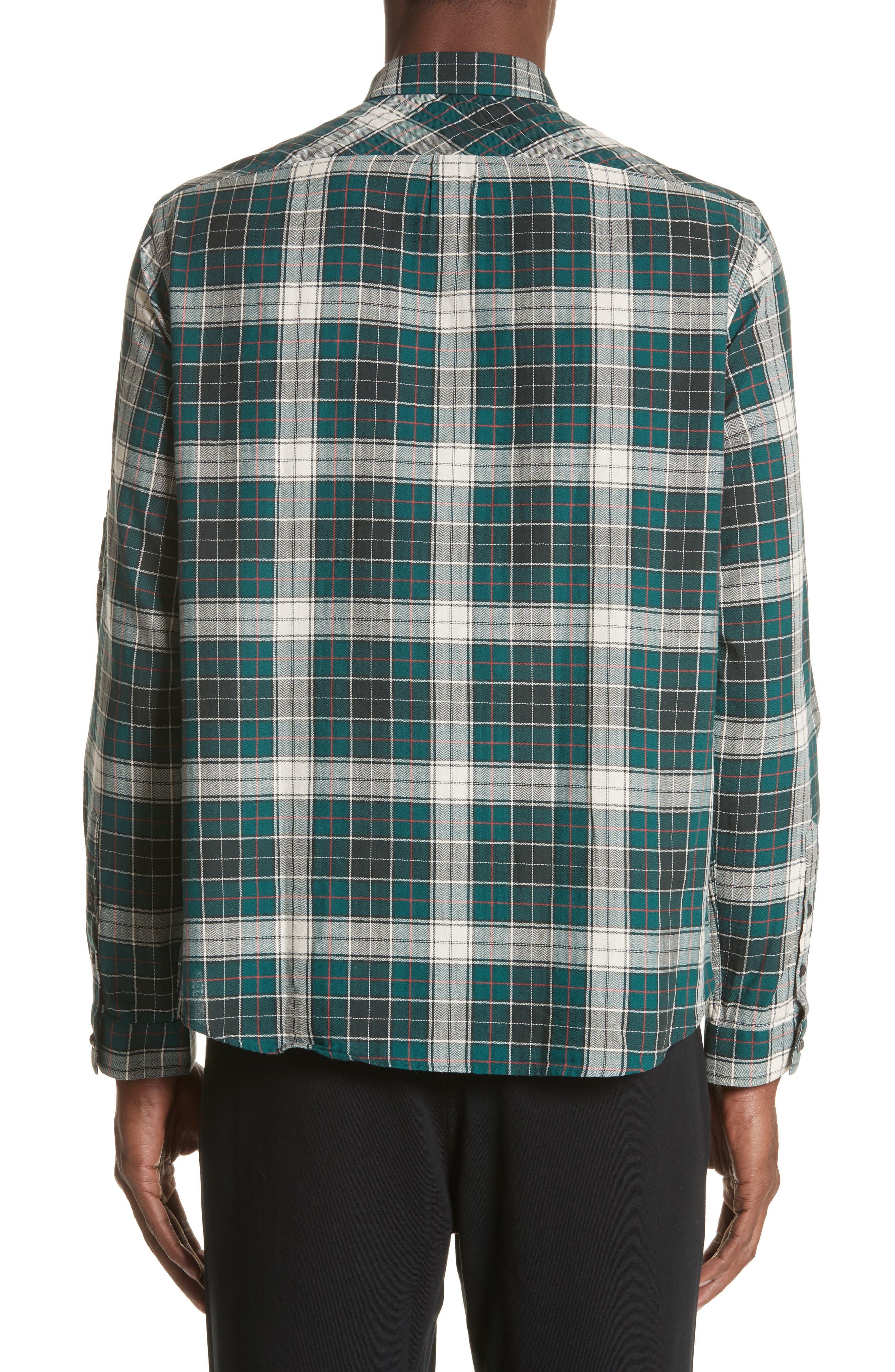 Check Woven Shirt,                             Alternate thumbnail 3, color,                             Green
