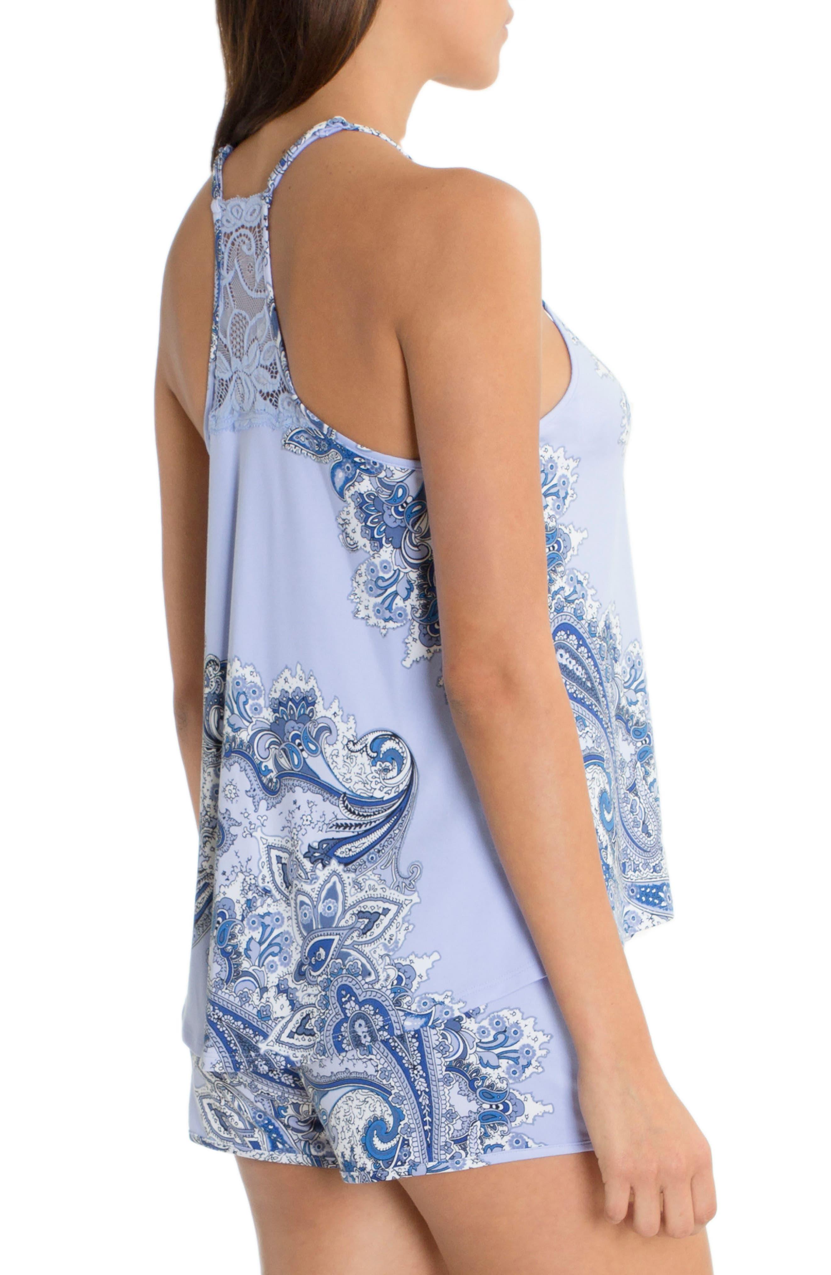 Short Pajamas,                             Alternate thumbnail 2, color,                             Sky Blue