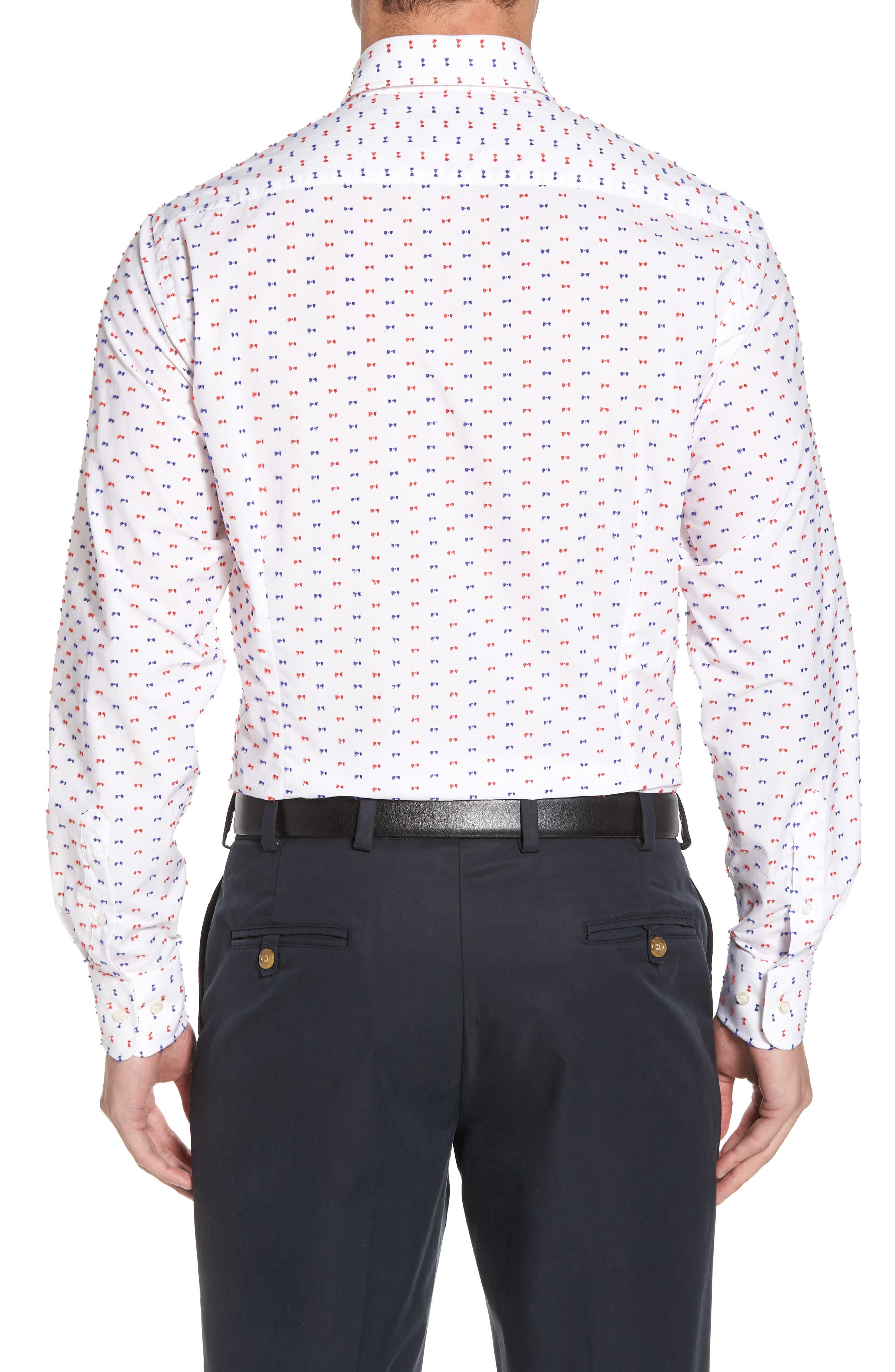 Paul&Shark Regular Fit Feathered Sport Shirt,                             Alternate thumbnail 2, color,                             White