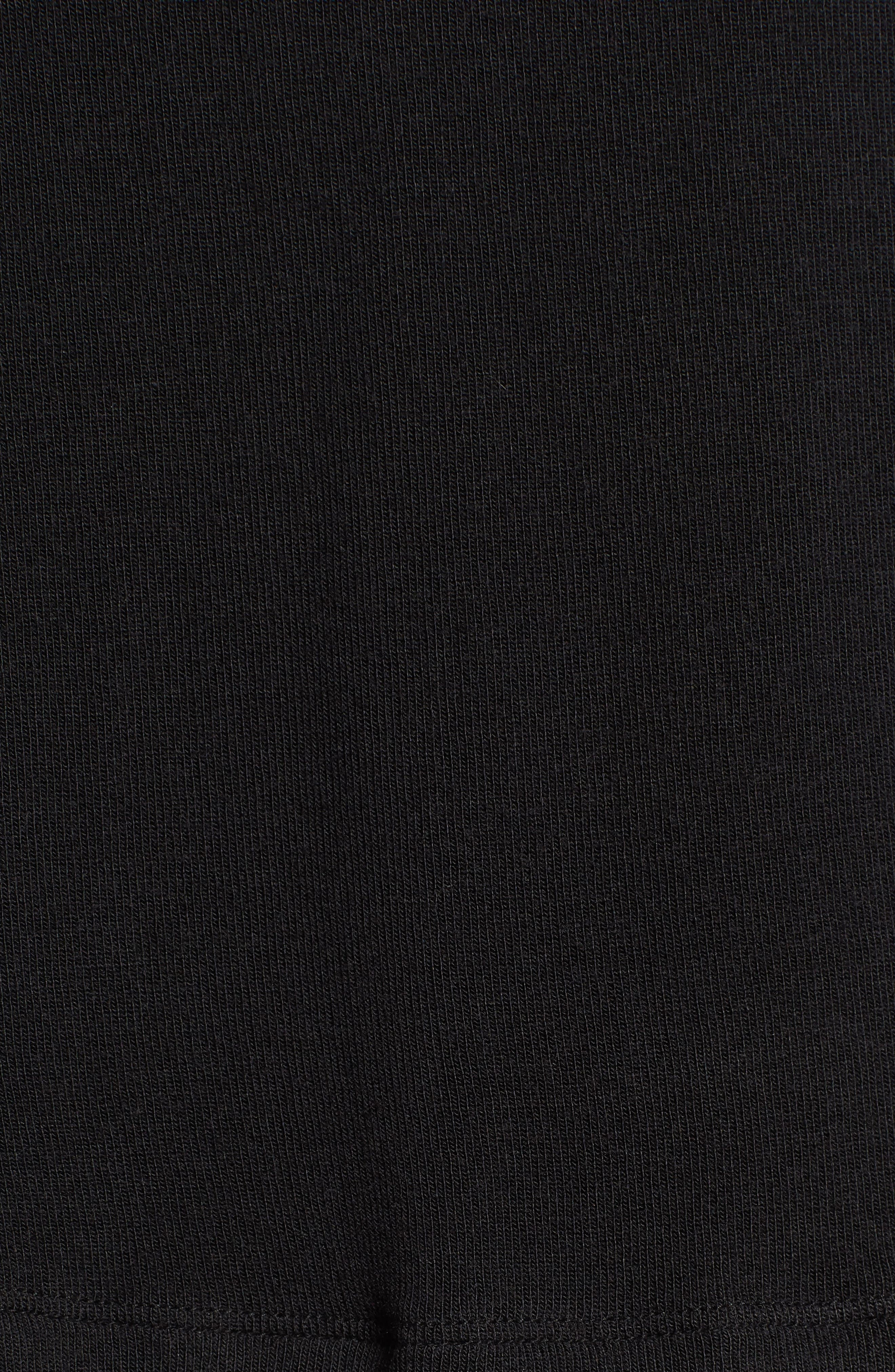 Taiko Lace Trim Top,                             Alternate thumbnail 6, color,                             Black