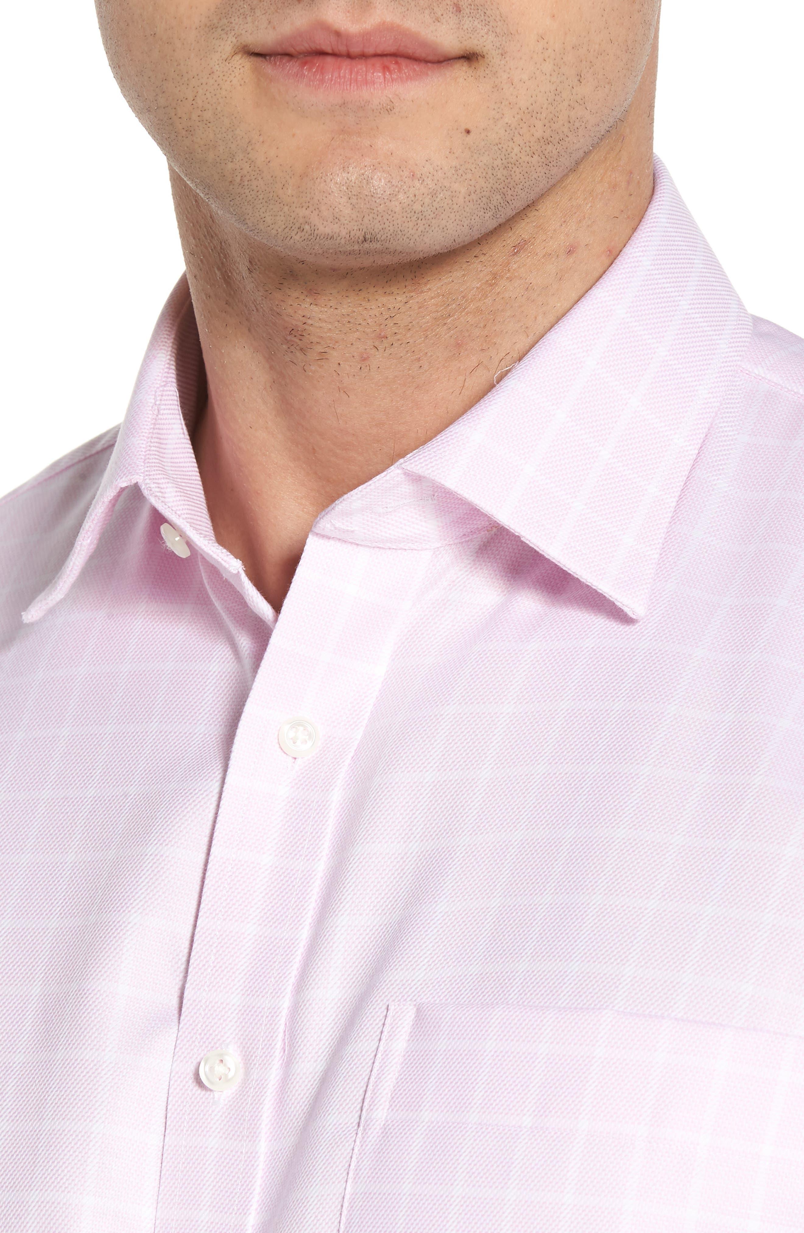 Classic Fit Non-Iron Check Dress Shirt,                             Alternate thumbnail 2, color,                             Pink Lavender