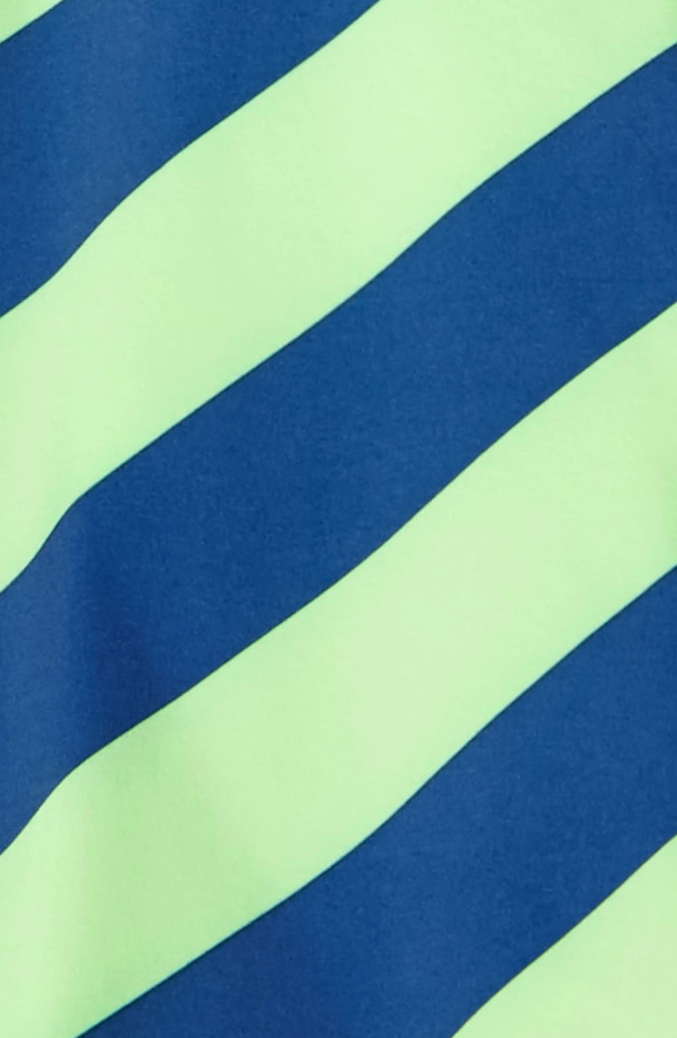 Stripey Swim Trunks,                             Alternate thumbnail 2, color,                             Strobe Green