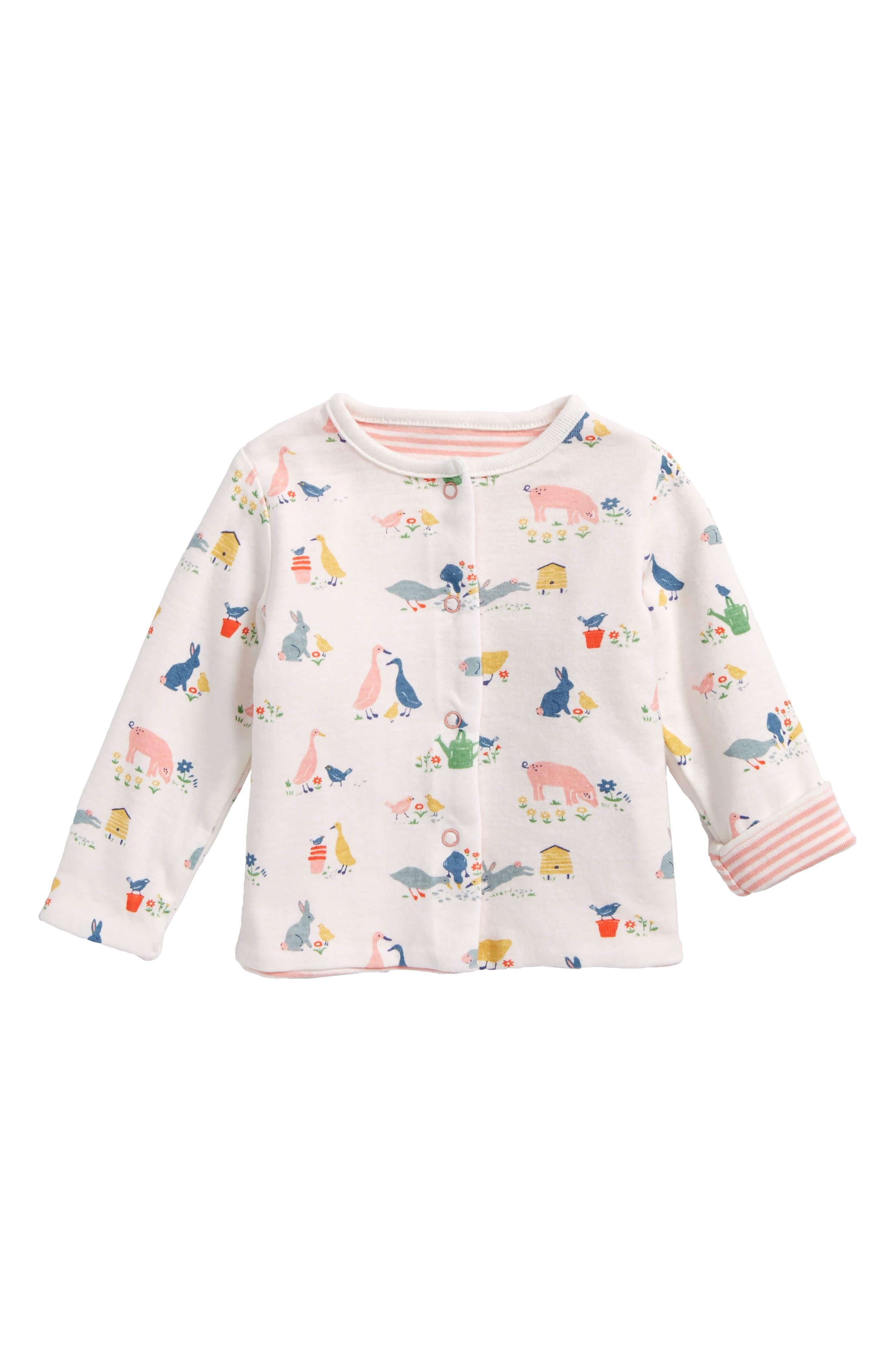 Mini Boden Reversible Jacket (Baby Girls)
