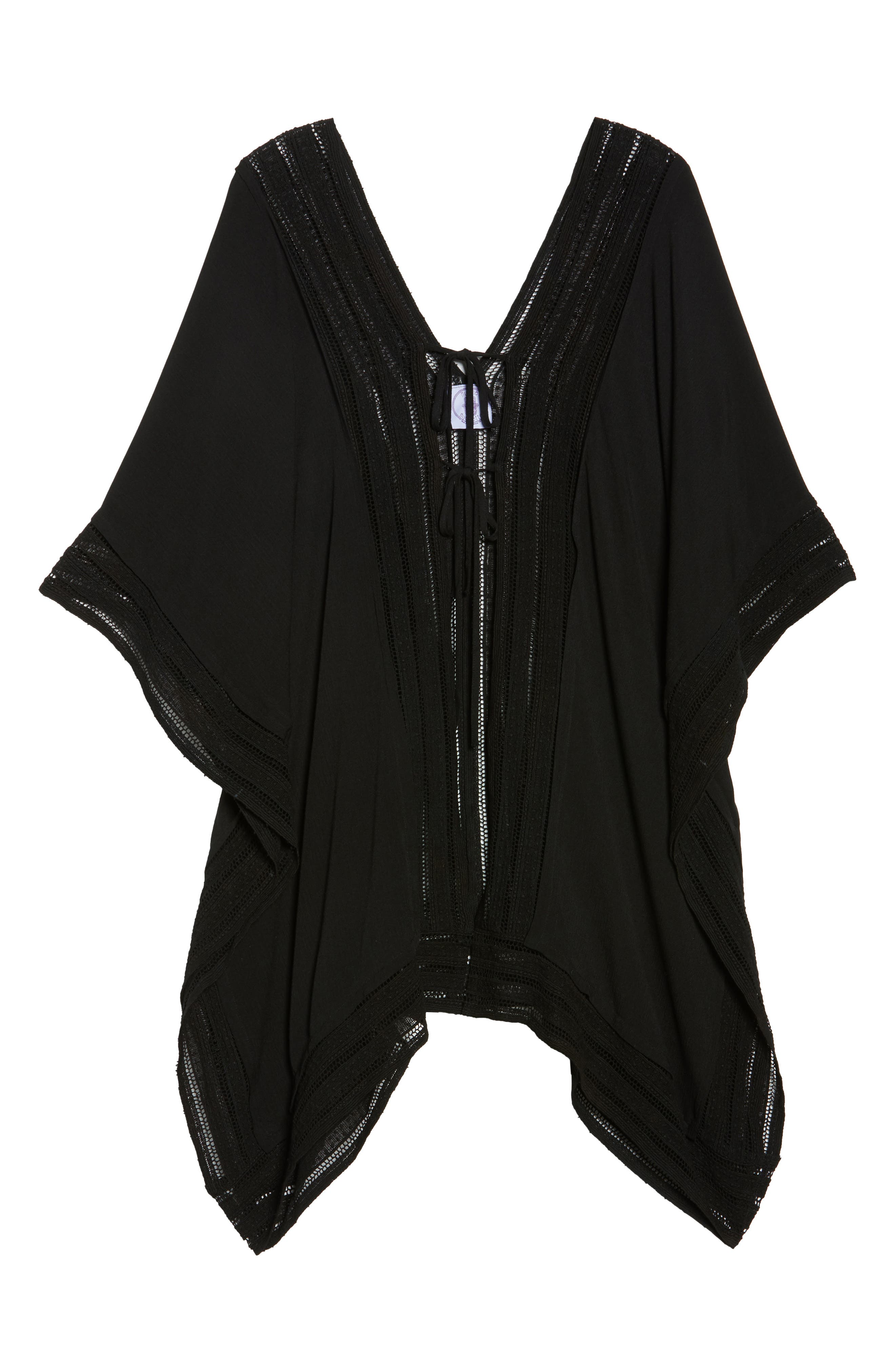 Serendipity Cover-Up Tunic,                             Alternate thumbnail 6, color,                             Black