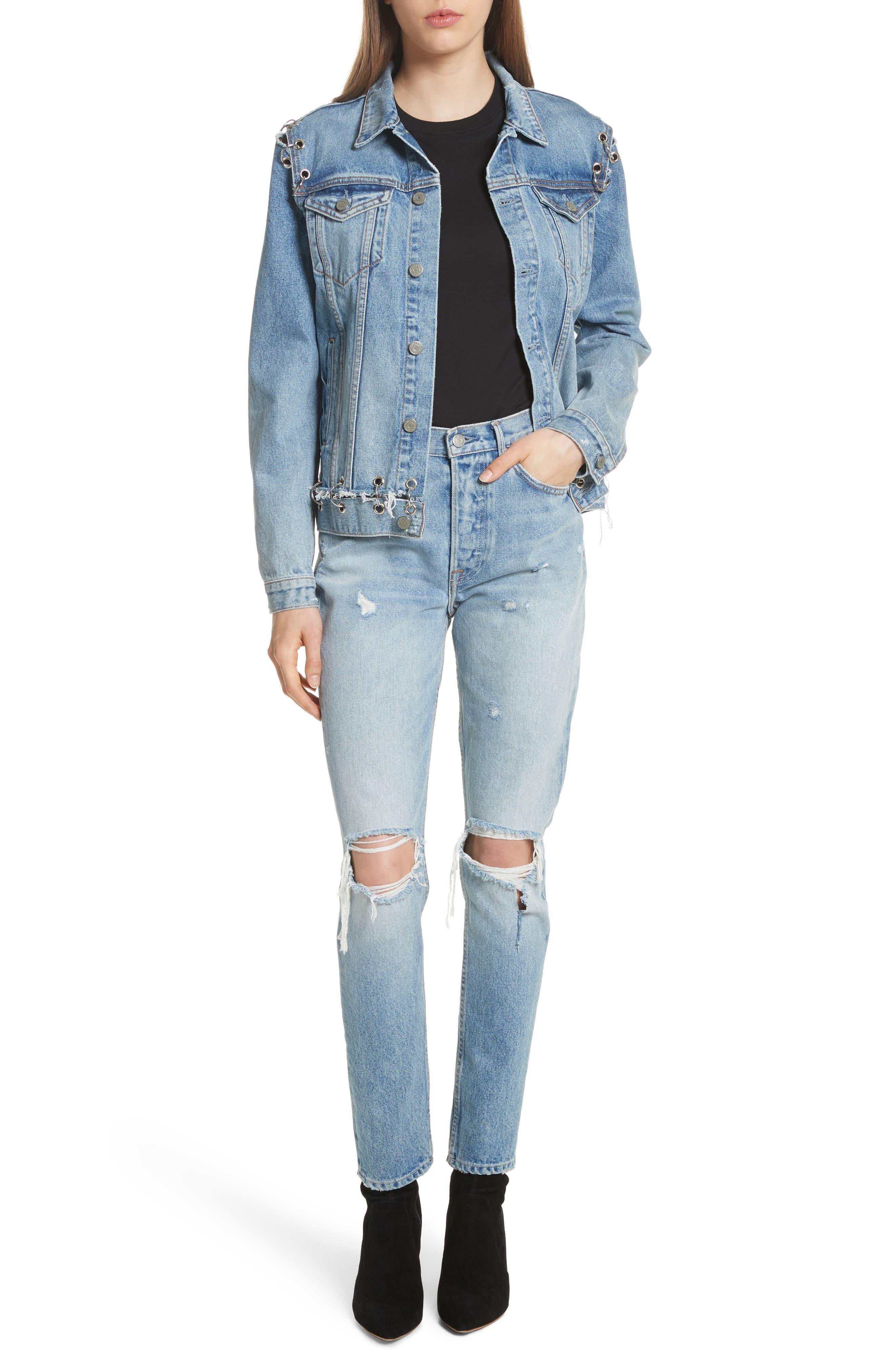Karolina Ripped Skinny Jeans,                             Alternate thumbnail 6, color,                             Treasure