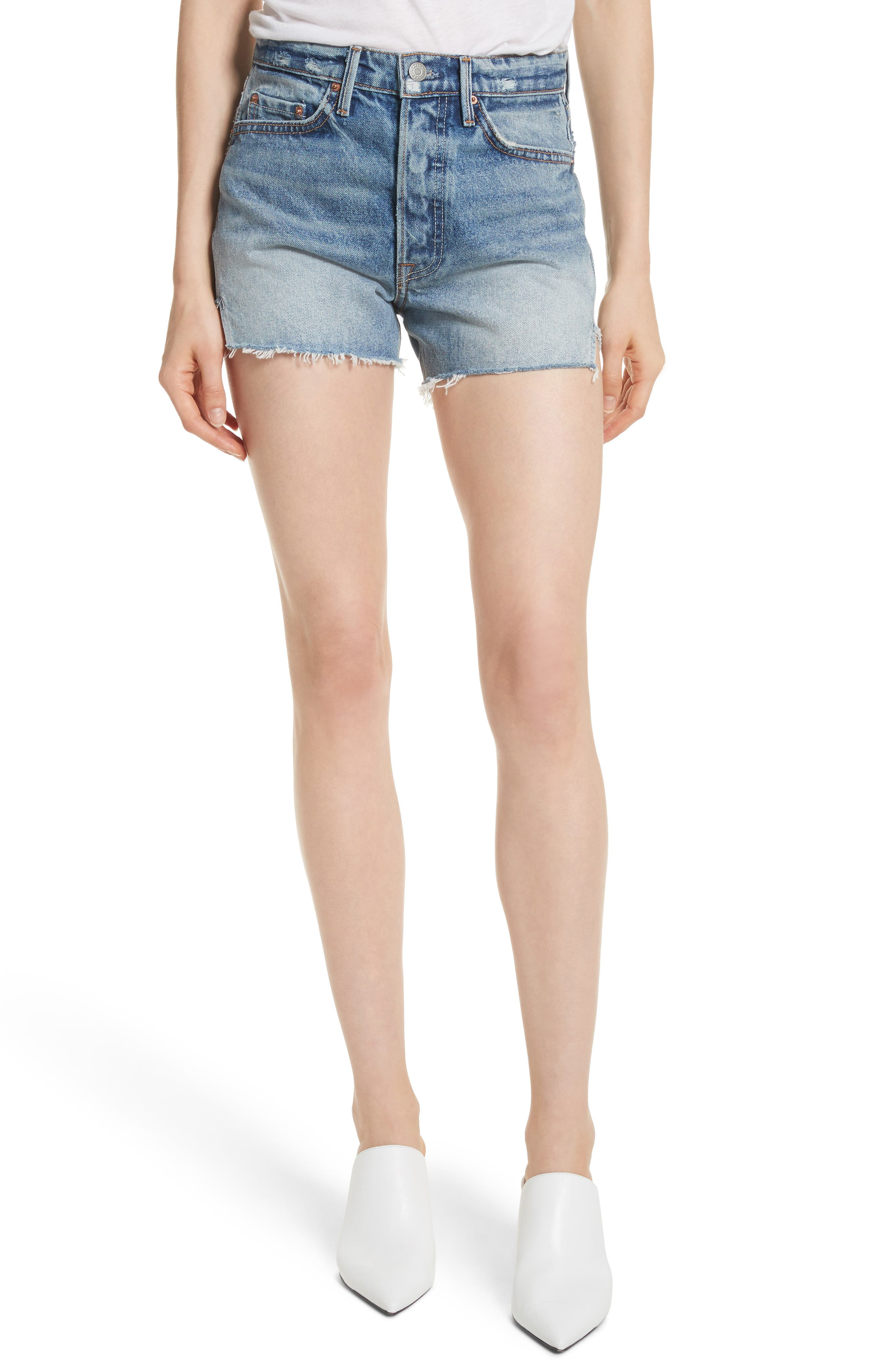 Mardee Denim Shorts,                             Main thumbnail 1, color,                             Twisted