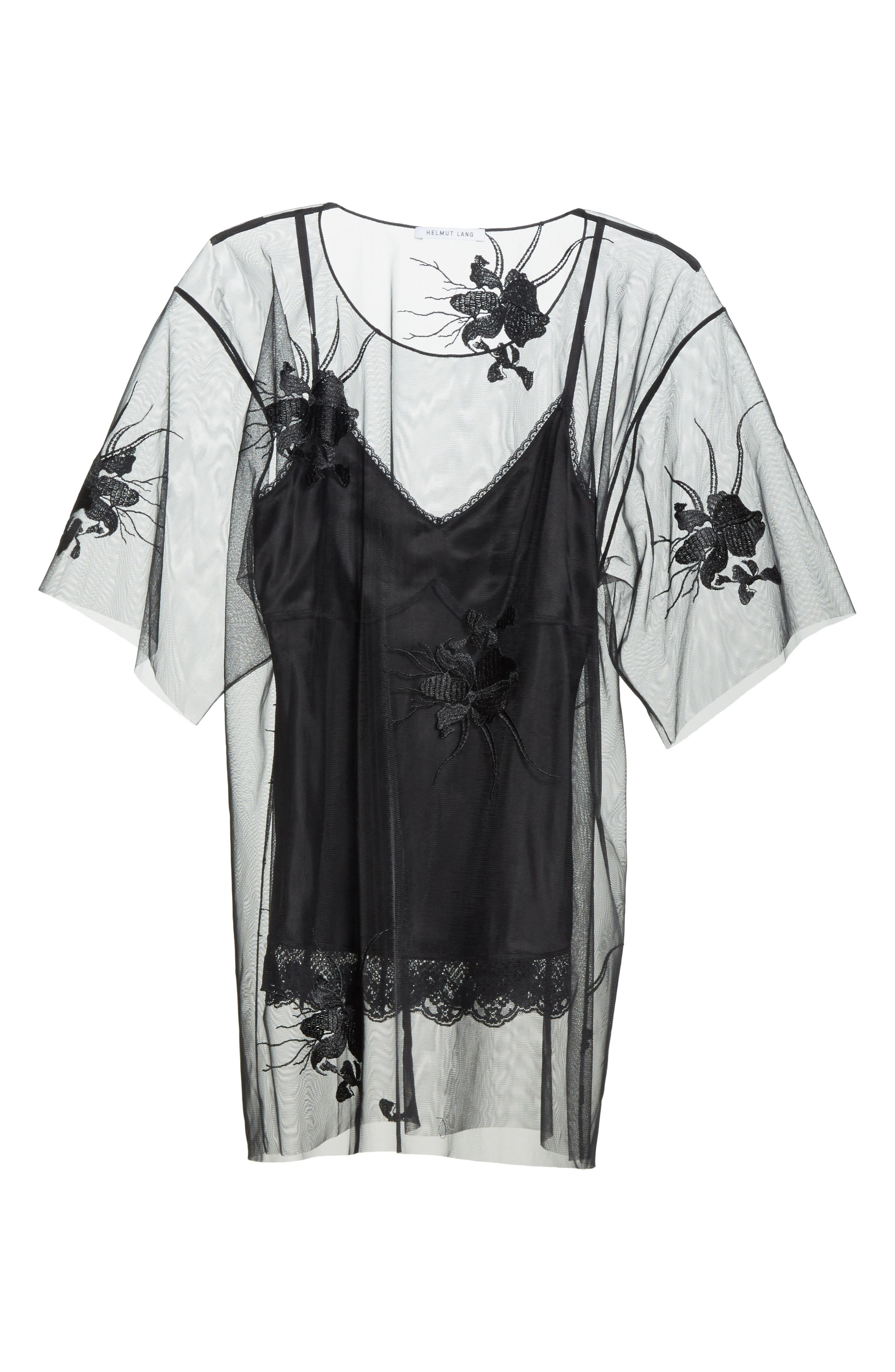 Alternate Image 6  - Helmut Lang Orchid Embroidered Mesh Top