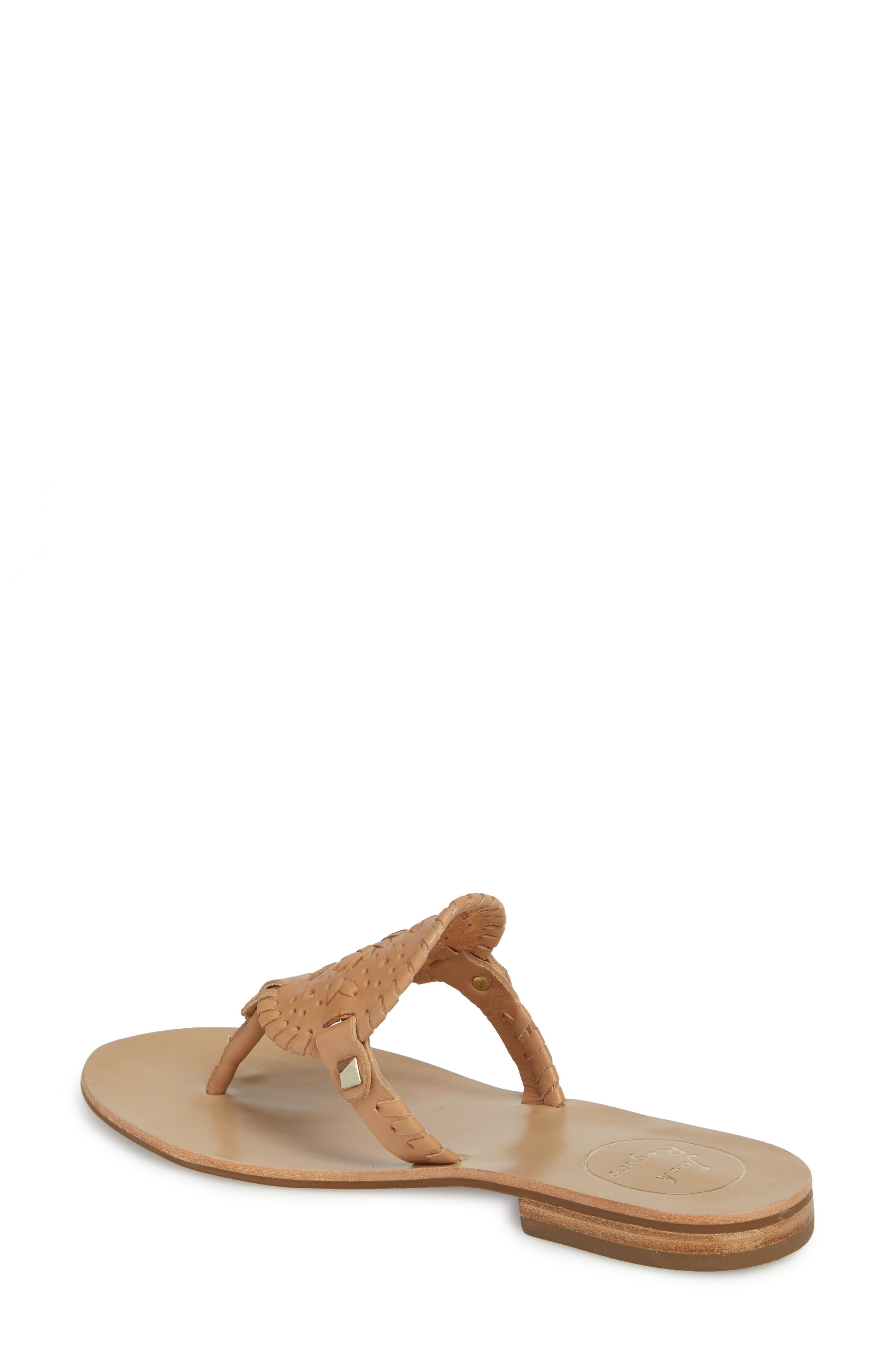 'Georgica' Sandals,                             Alternate thumbnail 2, color,                             Buff Leather