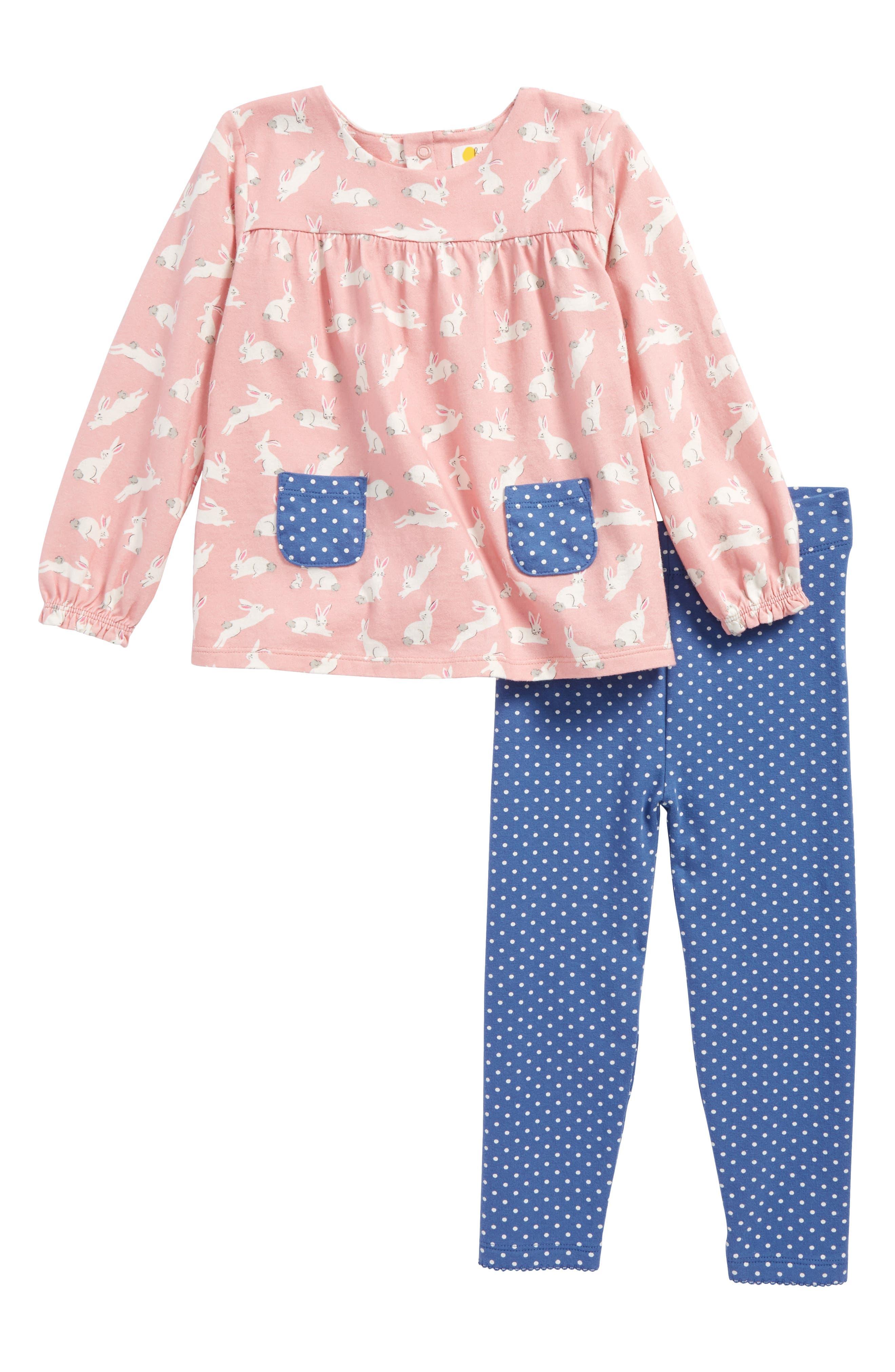 Mini Boden Print Tunic & Leggings Set (Baby Girls & Toddler Girls)