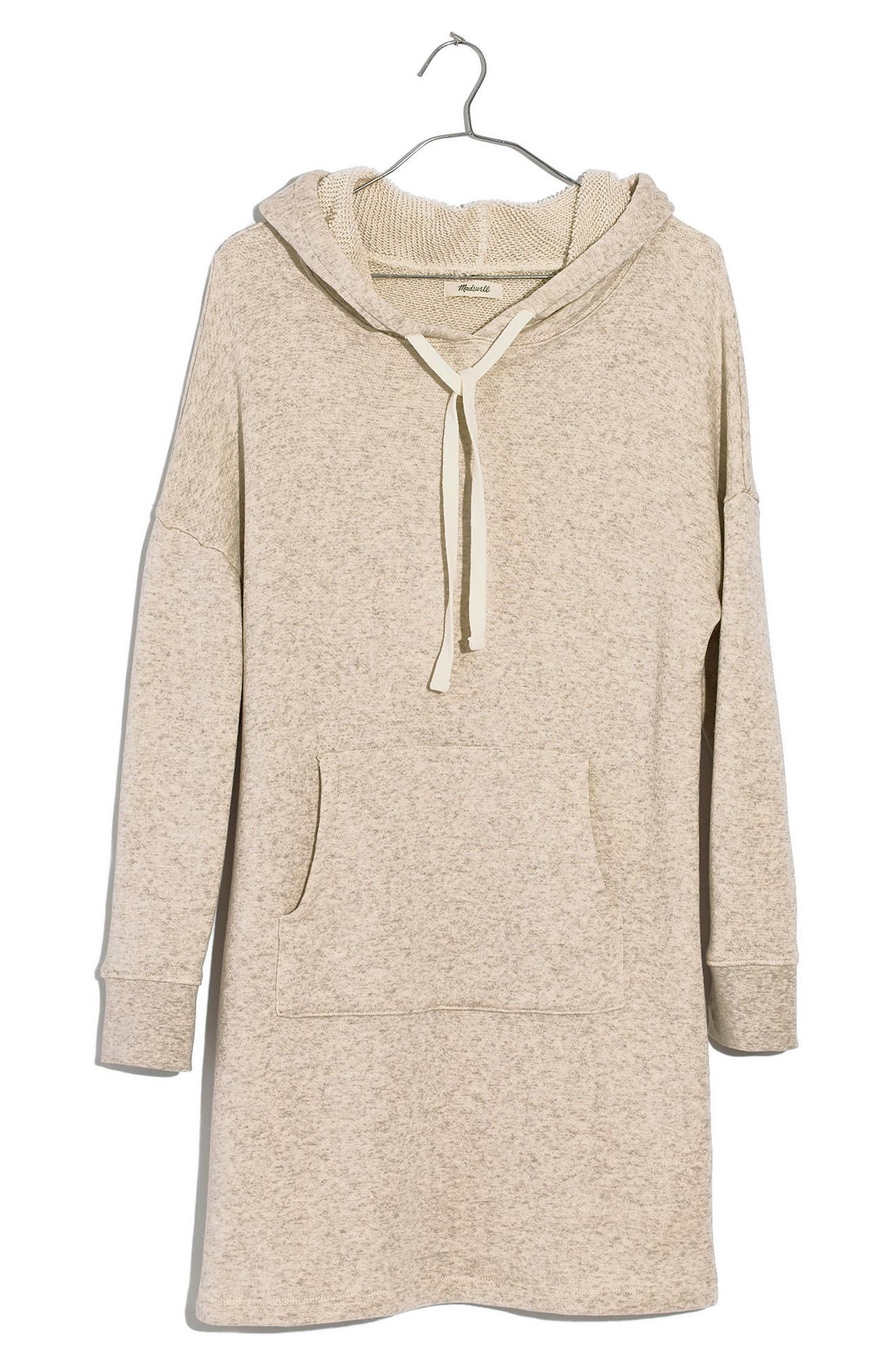Hooded Sweatshirt Dress,                             Main thumbnail 1, color,                             Hthr Slate