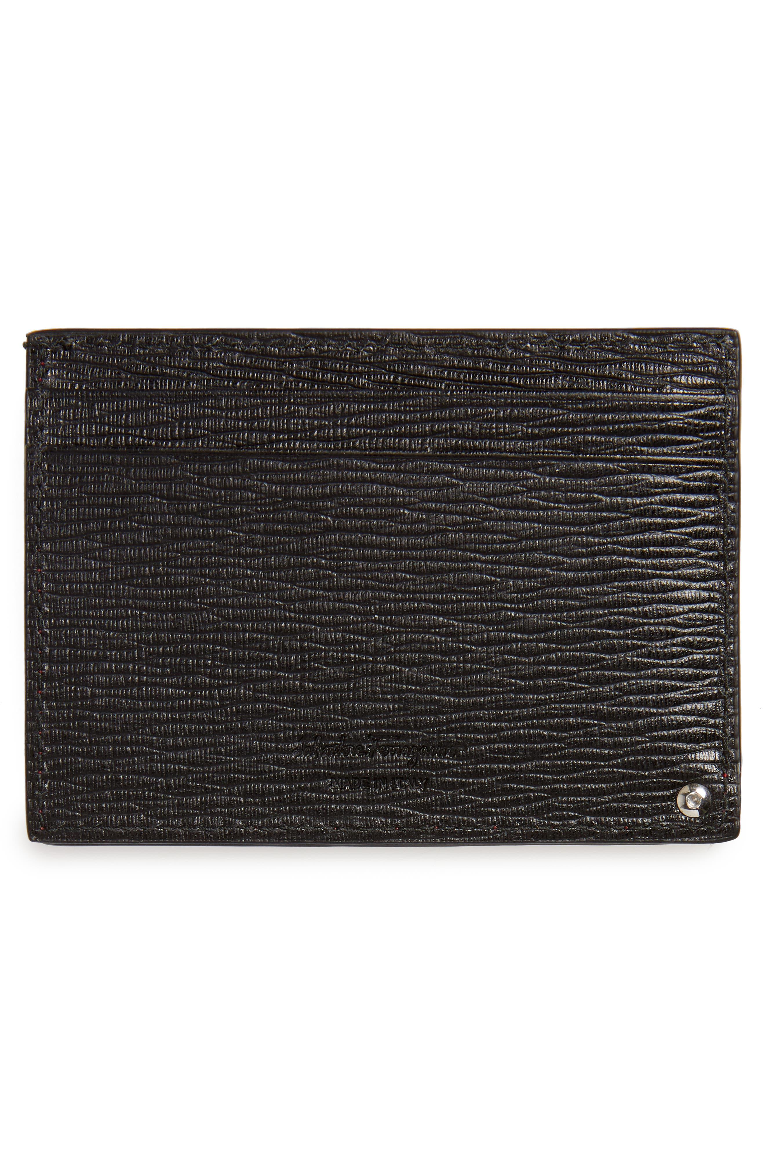 Revival Calfskin Leather Card Case,                             Alternate thumbnail 2, color,                             Black