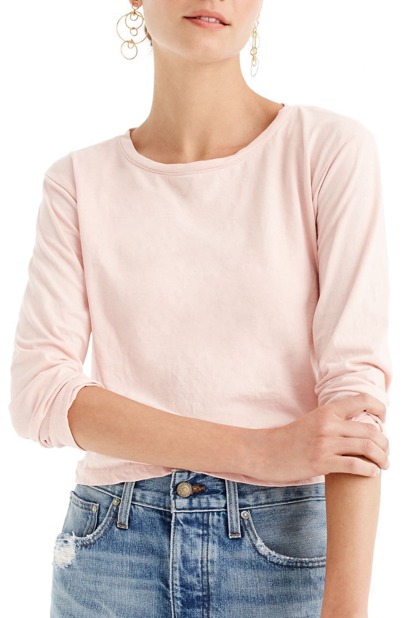 J.Crew Twist Hem Pima Cotton Tee