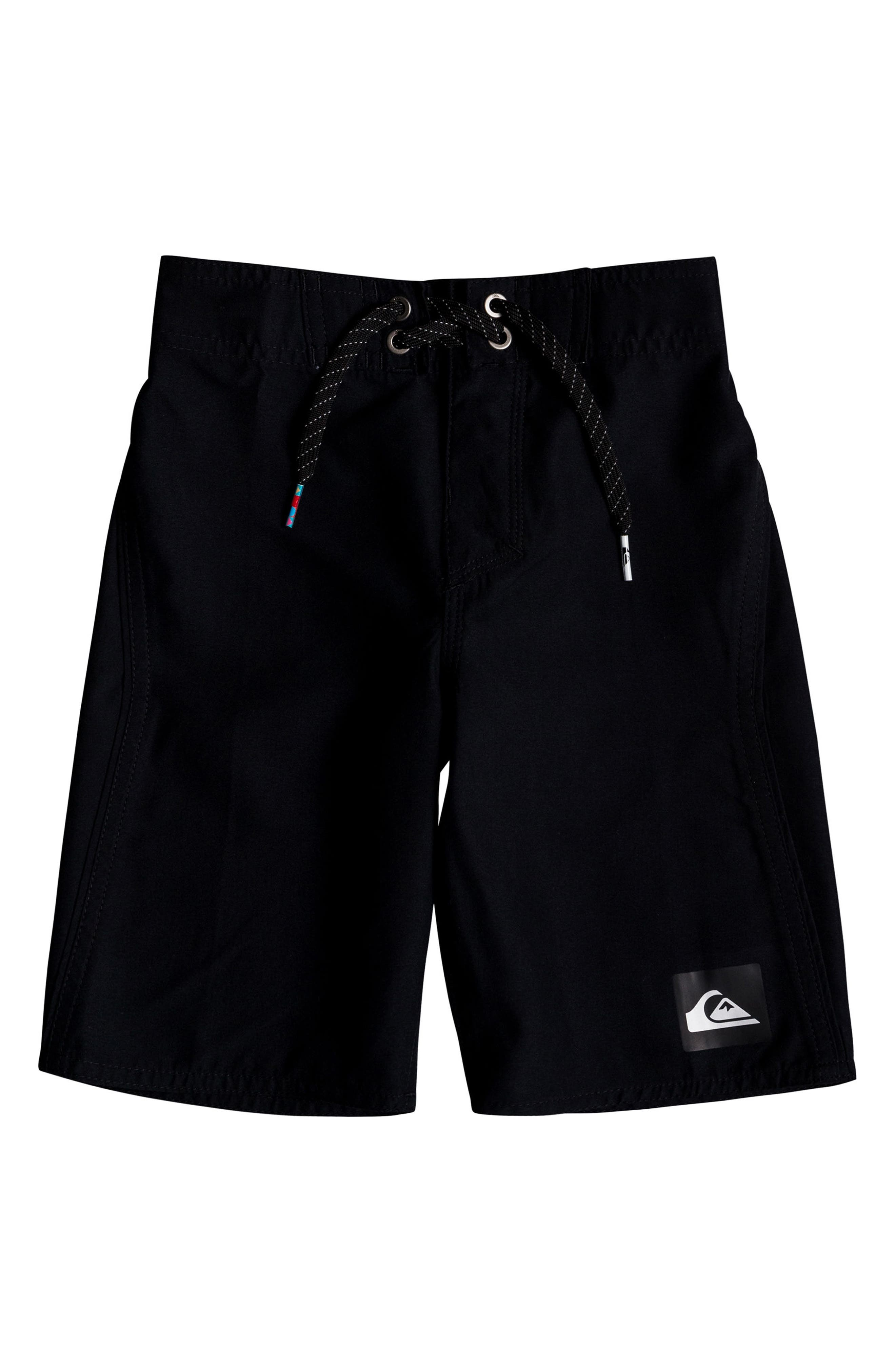 Highline Kaimana Board Shorts,                             Main thumbnail 1, color,                             Black