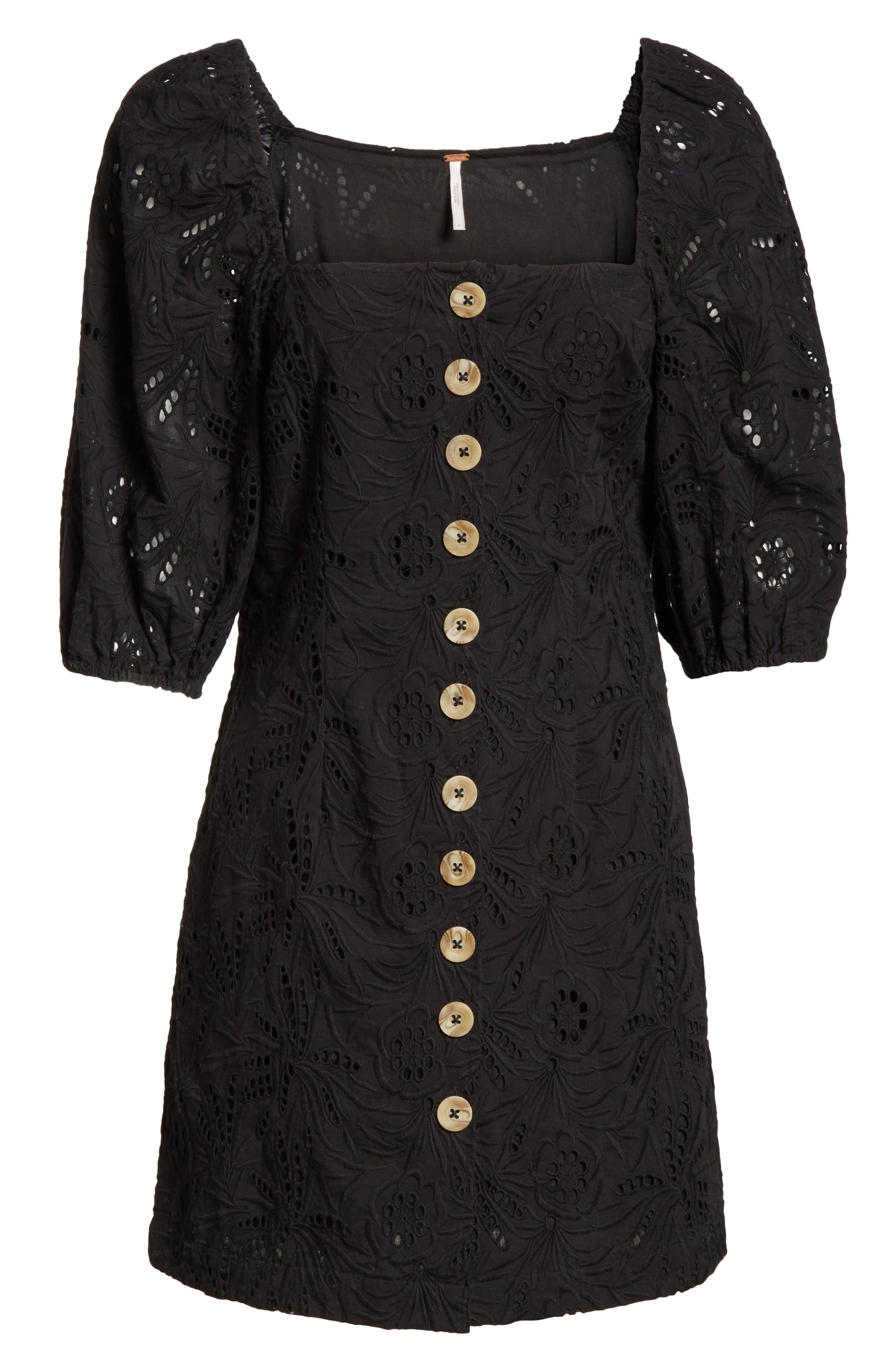 Daniella Minidress,                             Alternate thumbnail 6, color,                             Black