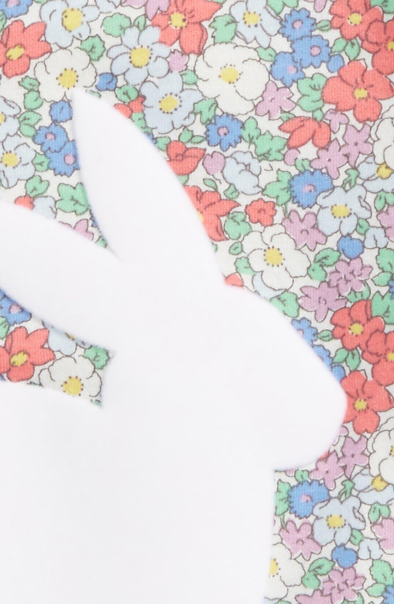 Floral Bunny Appliqué Tee,                             Alternate thumbnail 2, color,                             Strawberry Floral Bunny
