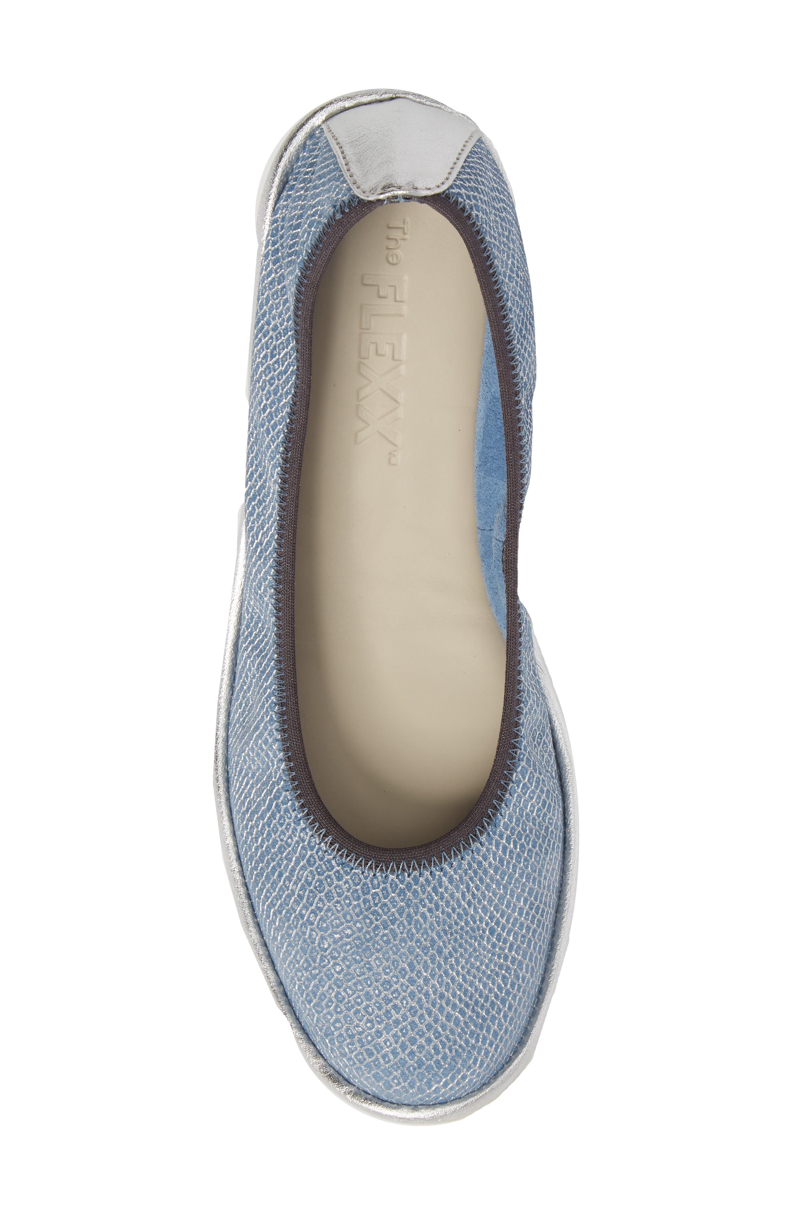 Mel A Drama Wedge Skimmer,                             Alternate thumbnail 5, color,                             Denim Leather